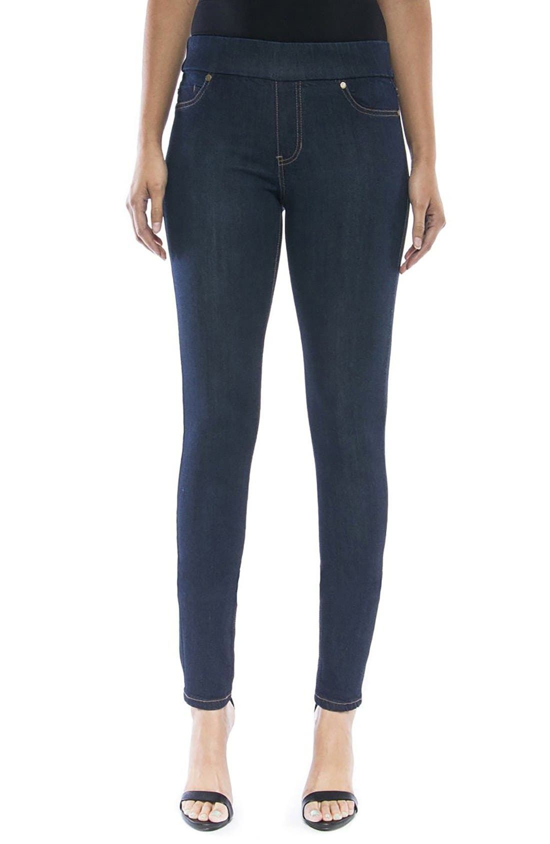 Jeans Company Sienna Mid Rise Soft Stretch Denim Leggings,                         Main,                         color, INDIGO RINSE