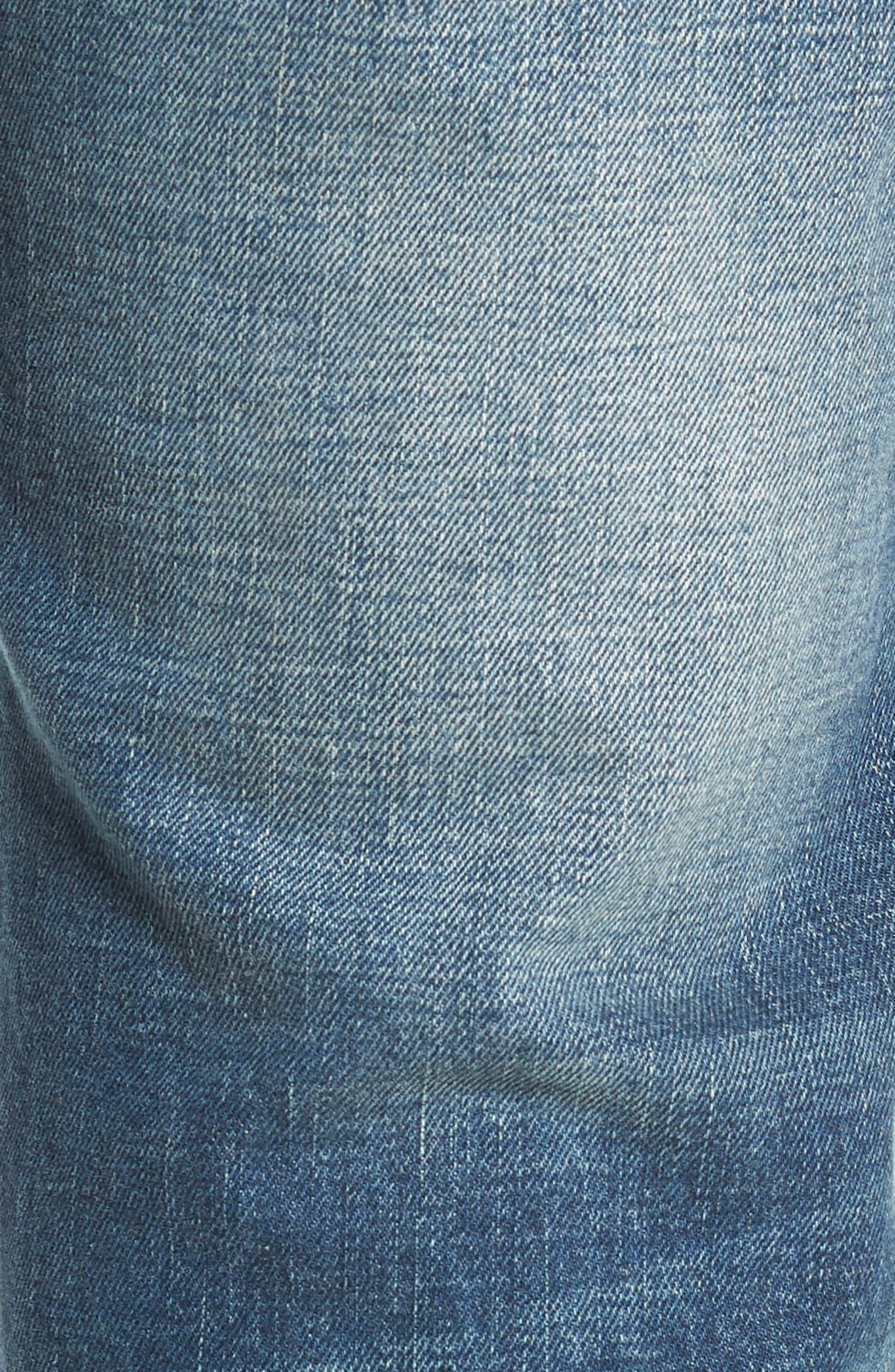 Mick Slim Fit Jeans,                             Alternate thumbnail 5, color,                             VINTAGE WASH