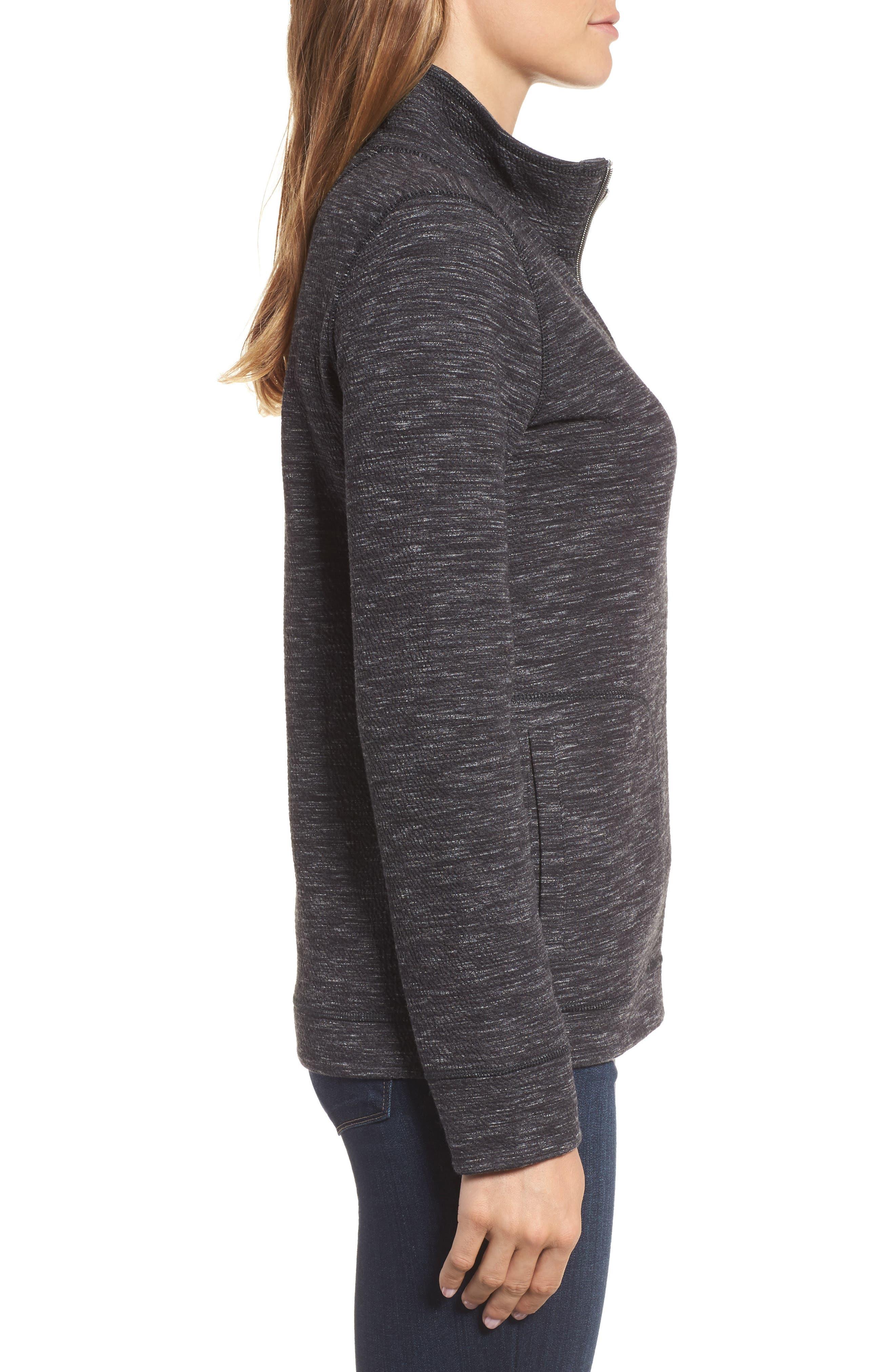 Reversible Marled Knit Jacket,                             Alternate thumbnail 3, color,                             021