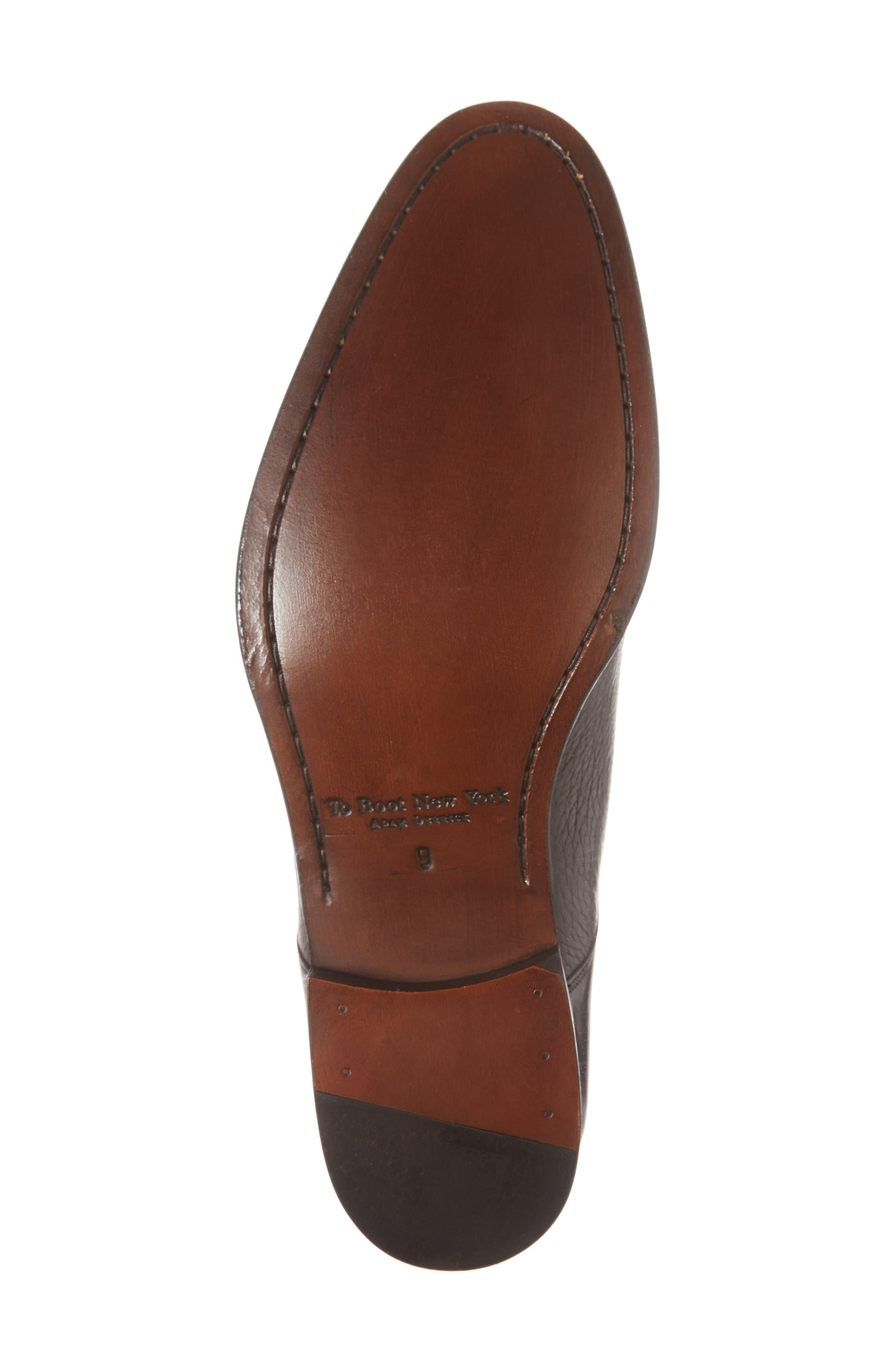 Kiev Double Monk Strap Shoe,                             Alternate thumbnail 6, color,                             BLACK/ BLACK LEATHER