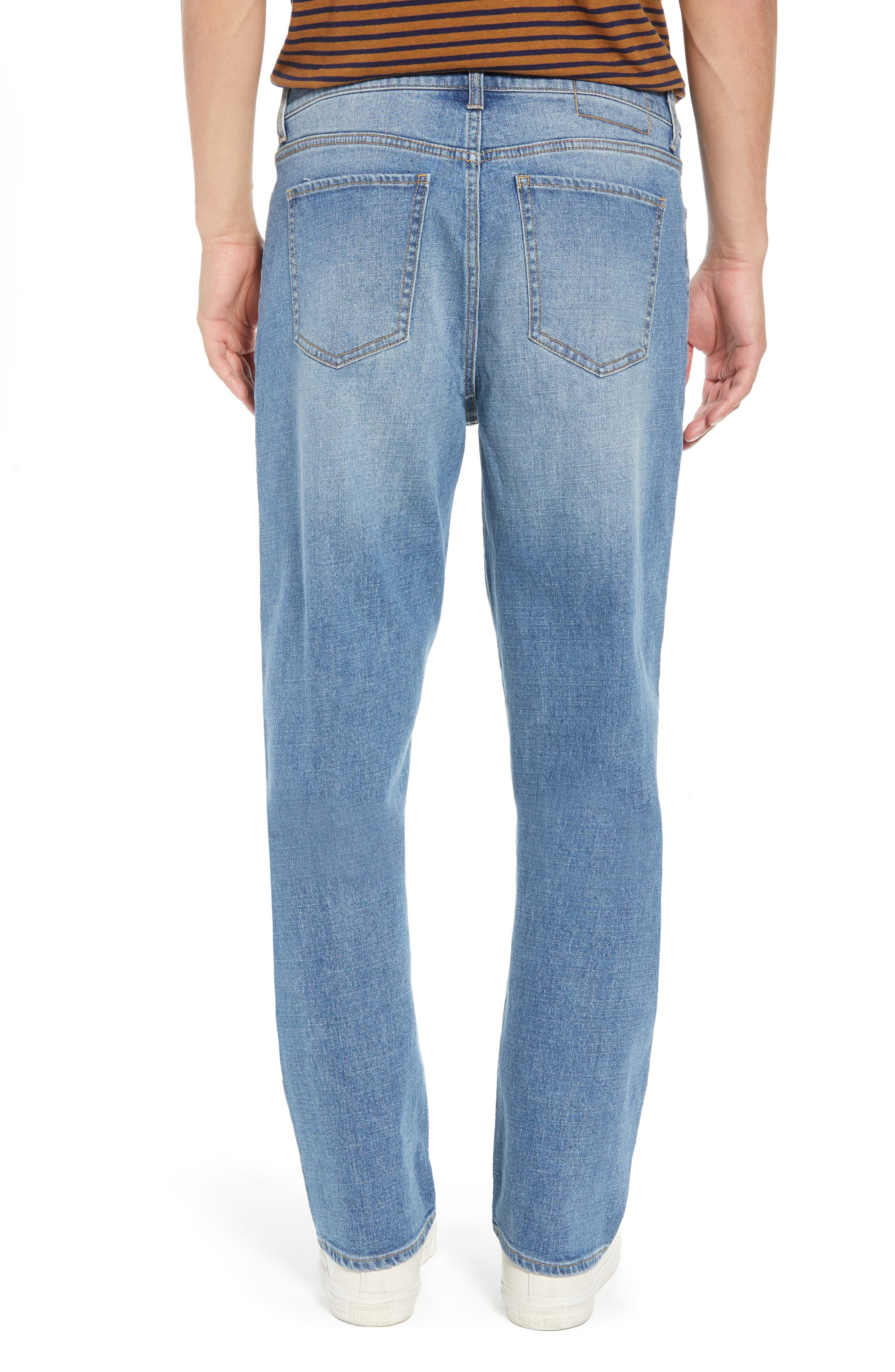 Straight Leg Jeans,                             Alternate thumbnail 2, color,                             BLUE EVAN WASH