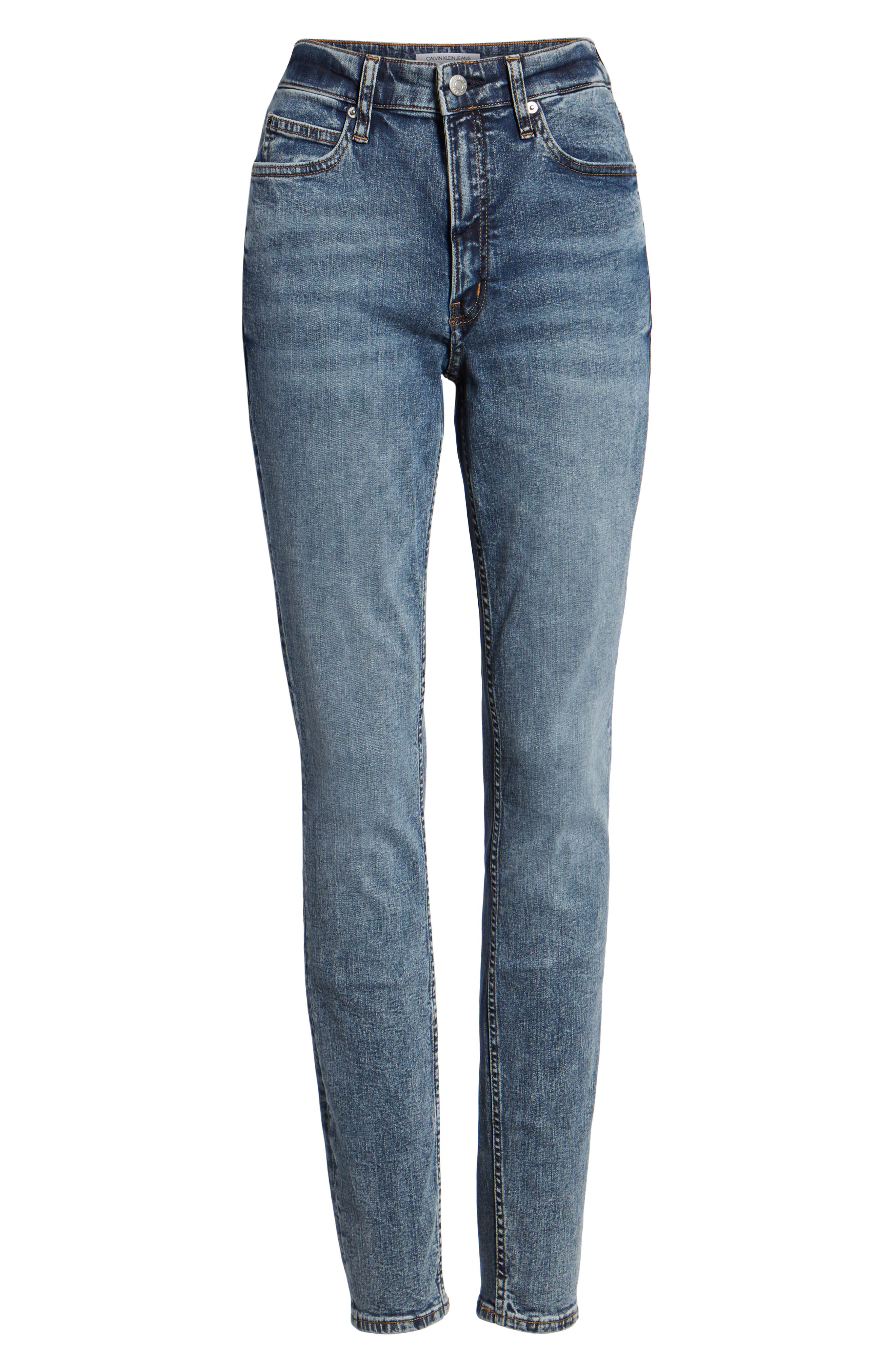 High Waist Skinny Jeans,                             Alternate thumbnail 7, color,                             400