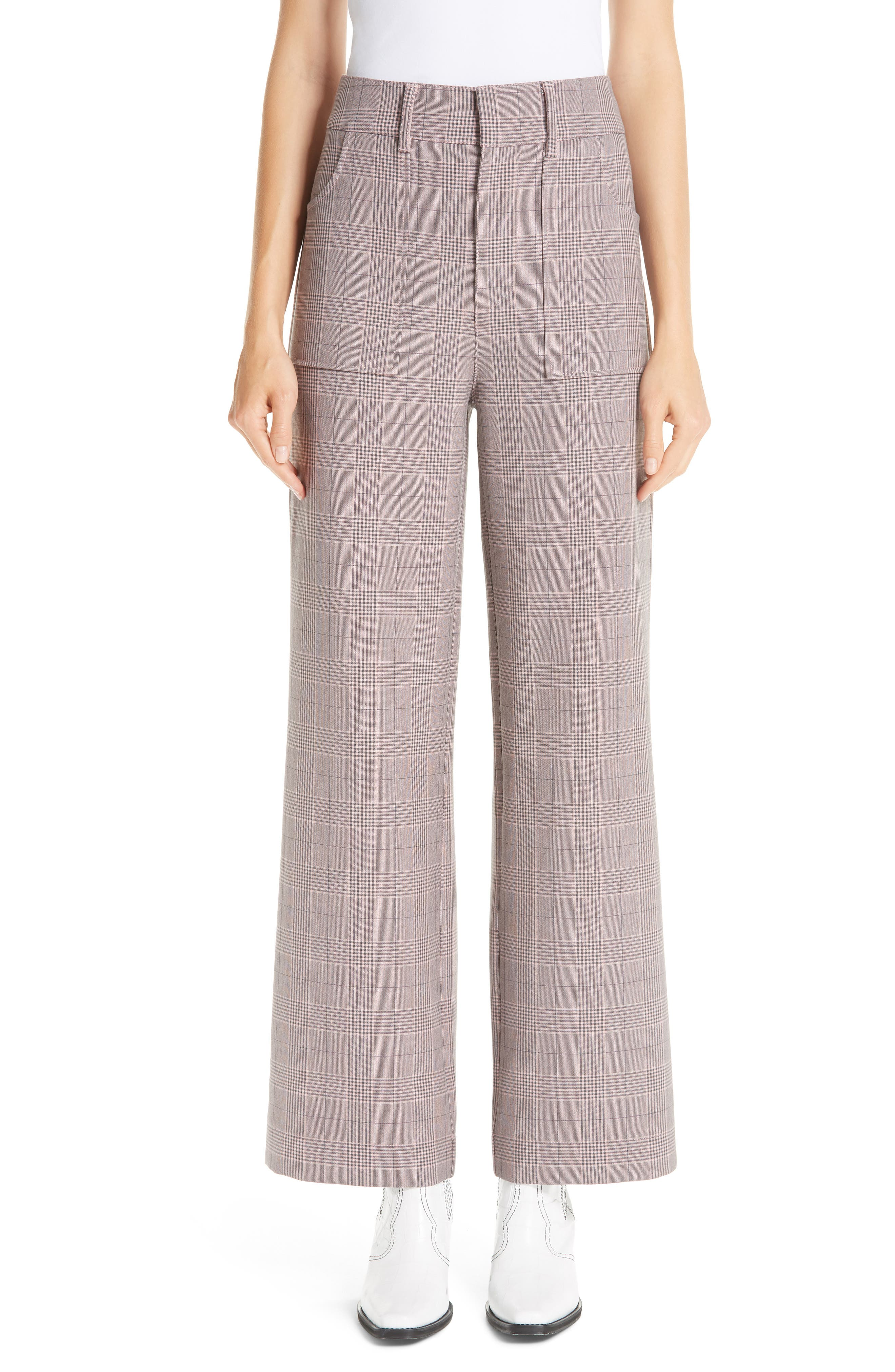 GANNI Suiting Pants, Main, color, SILVER PINK 499