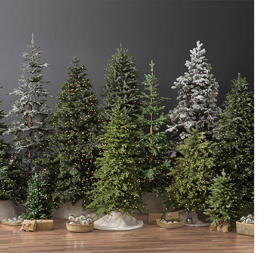 Artificial Christmas trees from Balsam Hill.