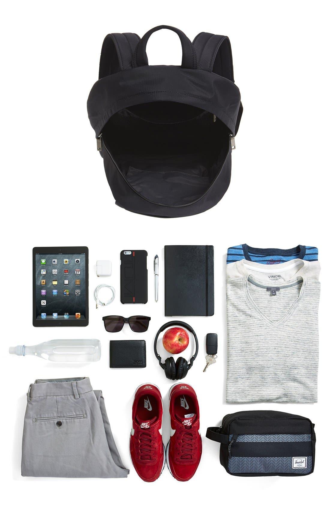JACK SPADE,                             'Tech' Nylon Backpack,                             Alternate thumbnail 3, color,                             001
