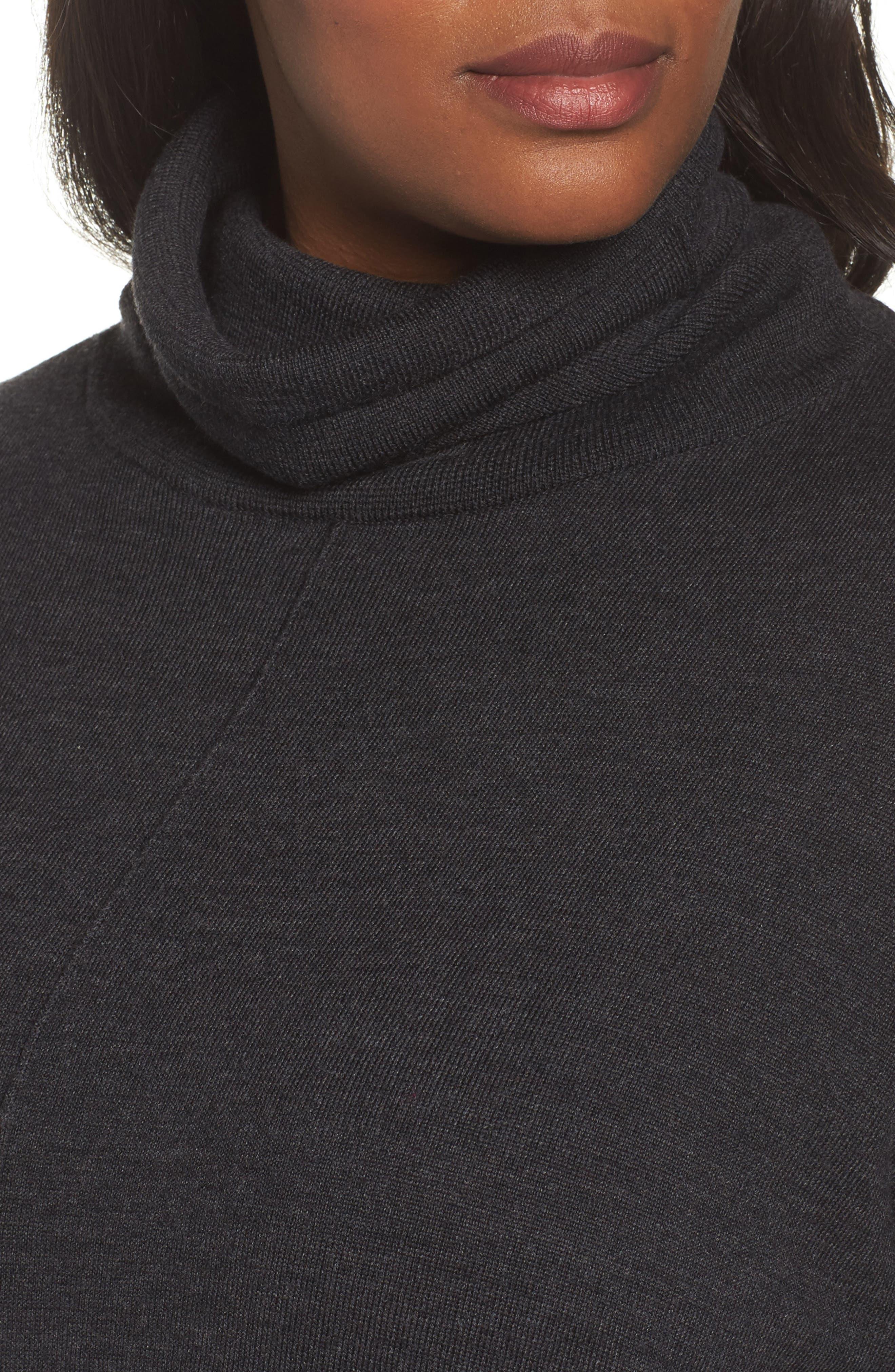 Merino Wool Turtleneck Sweater,                             Alternate thumbnail 4, color,                             021