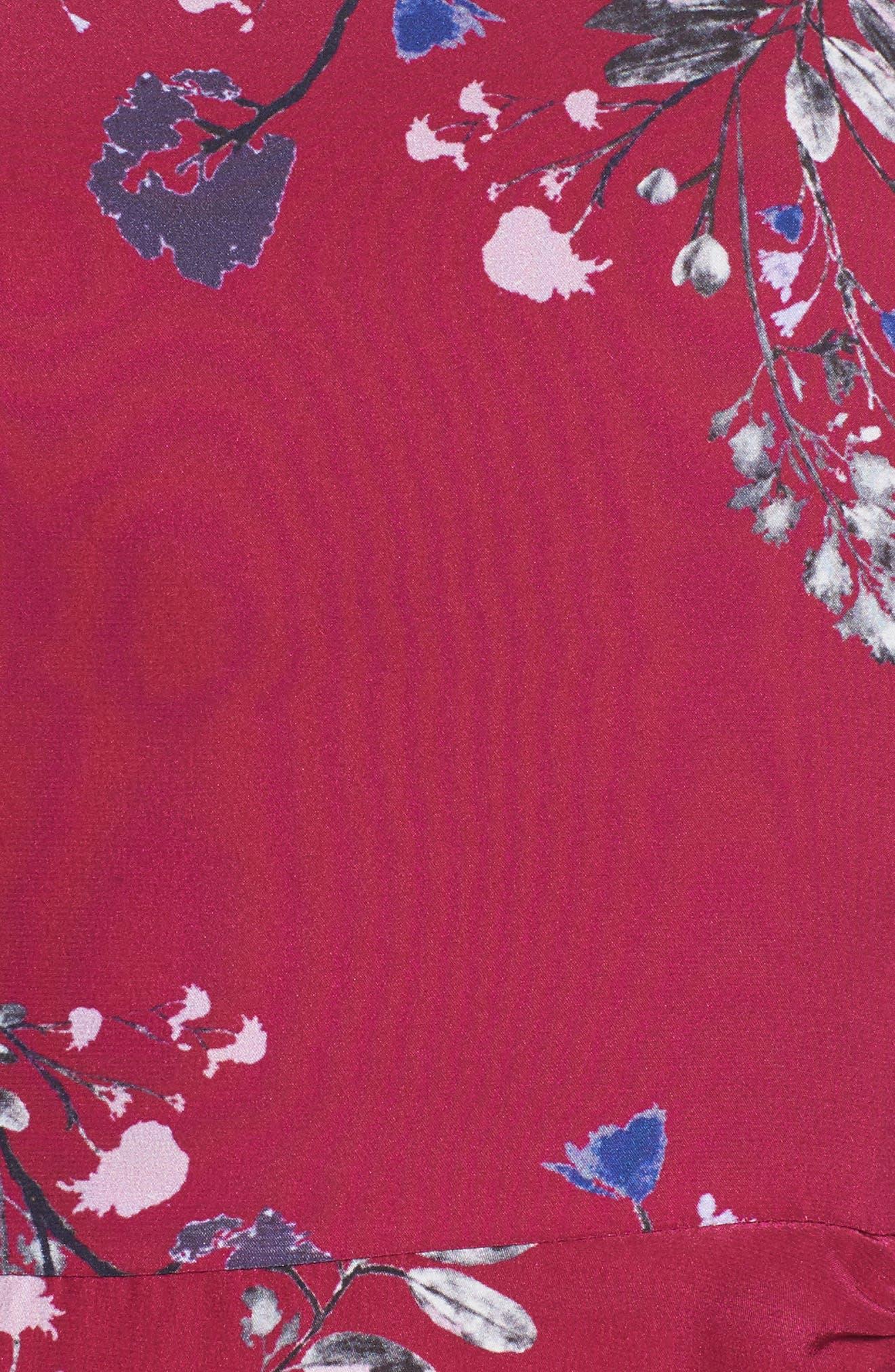 Jagger Silk Midi Dress,                             Alternate thumbnail 5, color,                             697