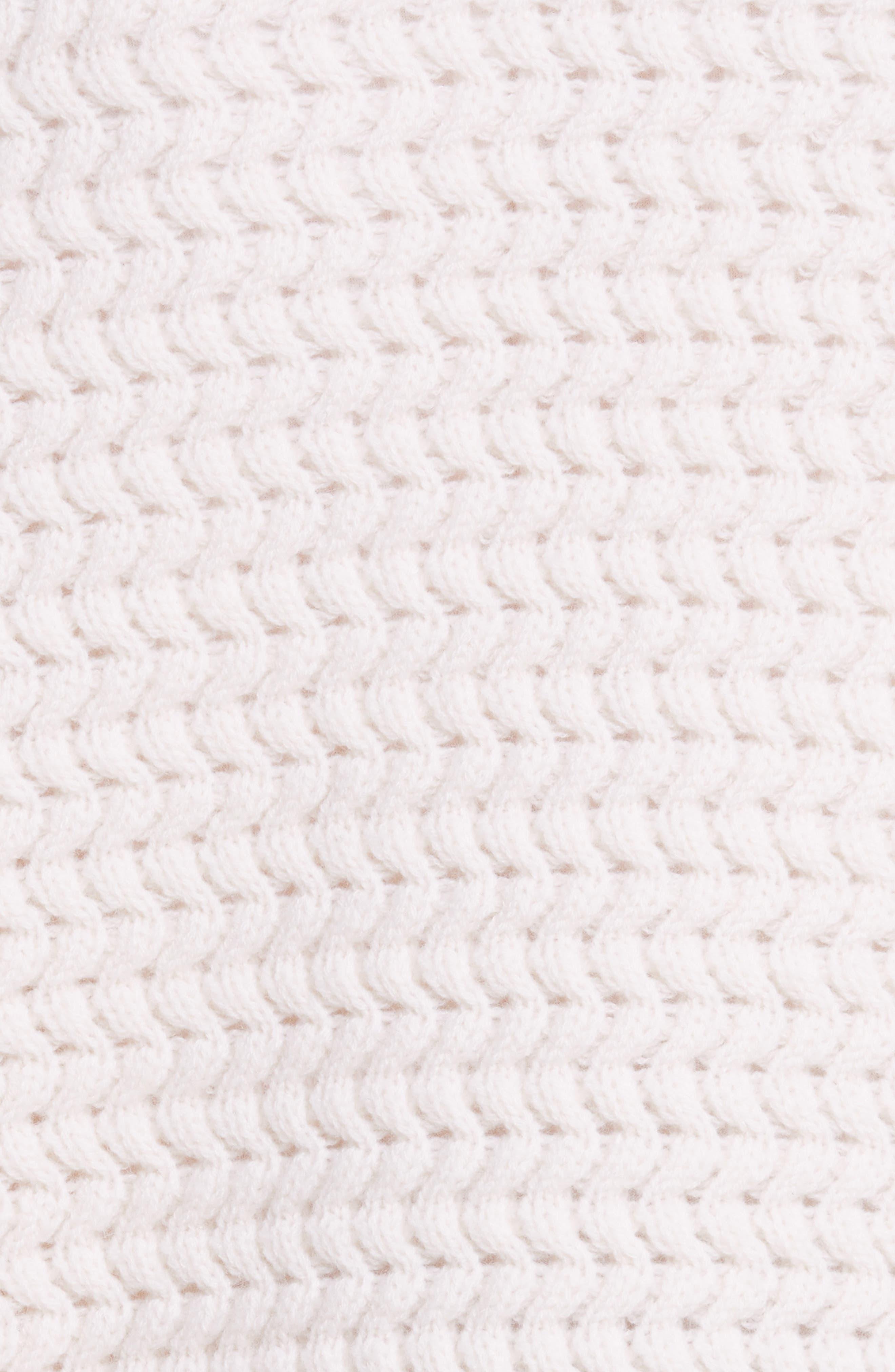 Wavy Knit Merino Wool & Cashmere Cardigan,                             Alternate thumbnail 5, color,                             905