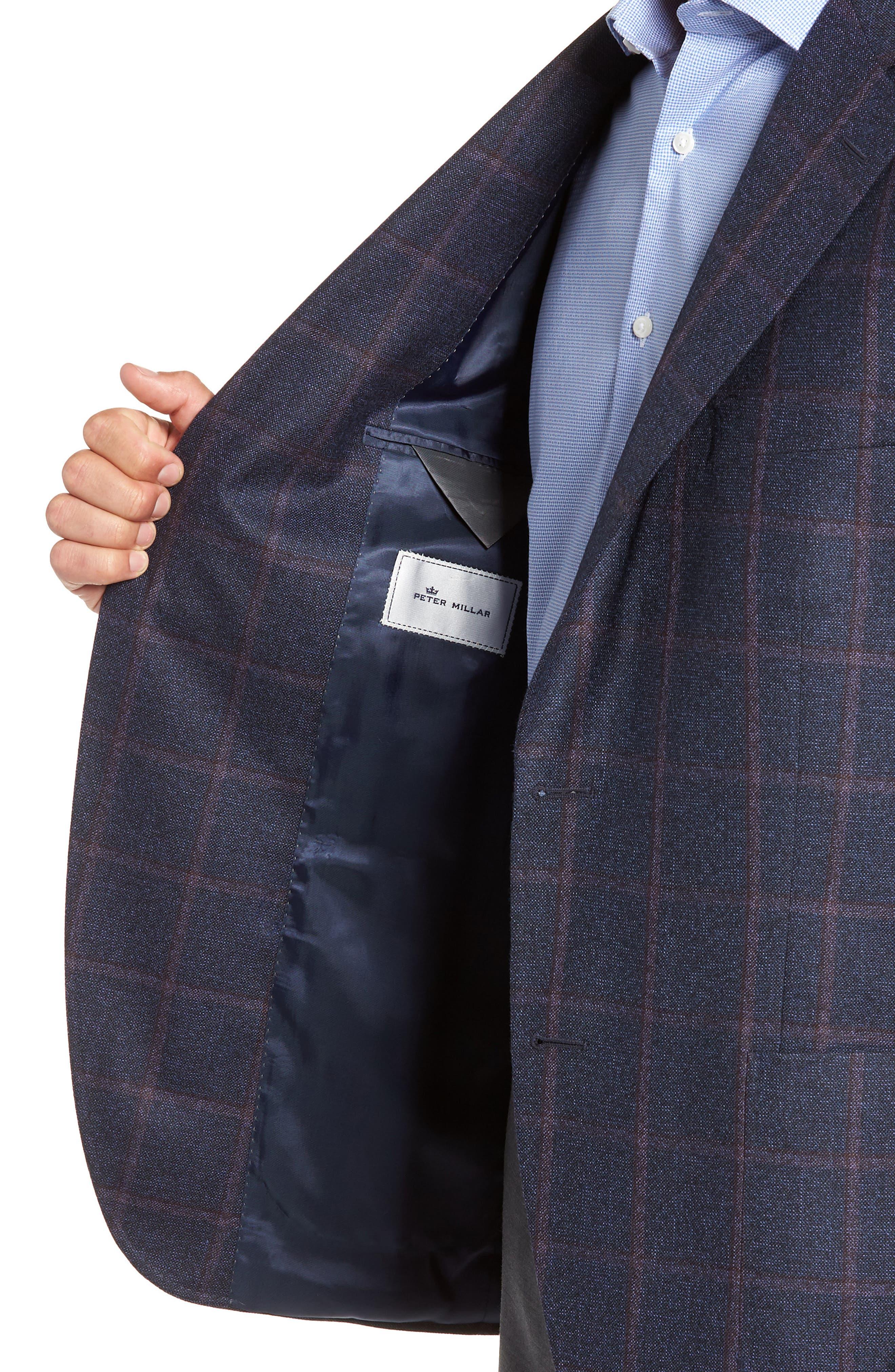 Hyperlight Classic Fit Wool Sport Coat,                             Alternate thumbnail 4, color,                             NAVY