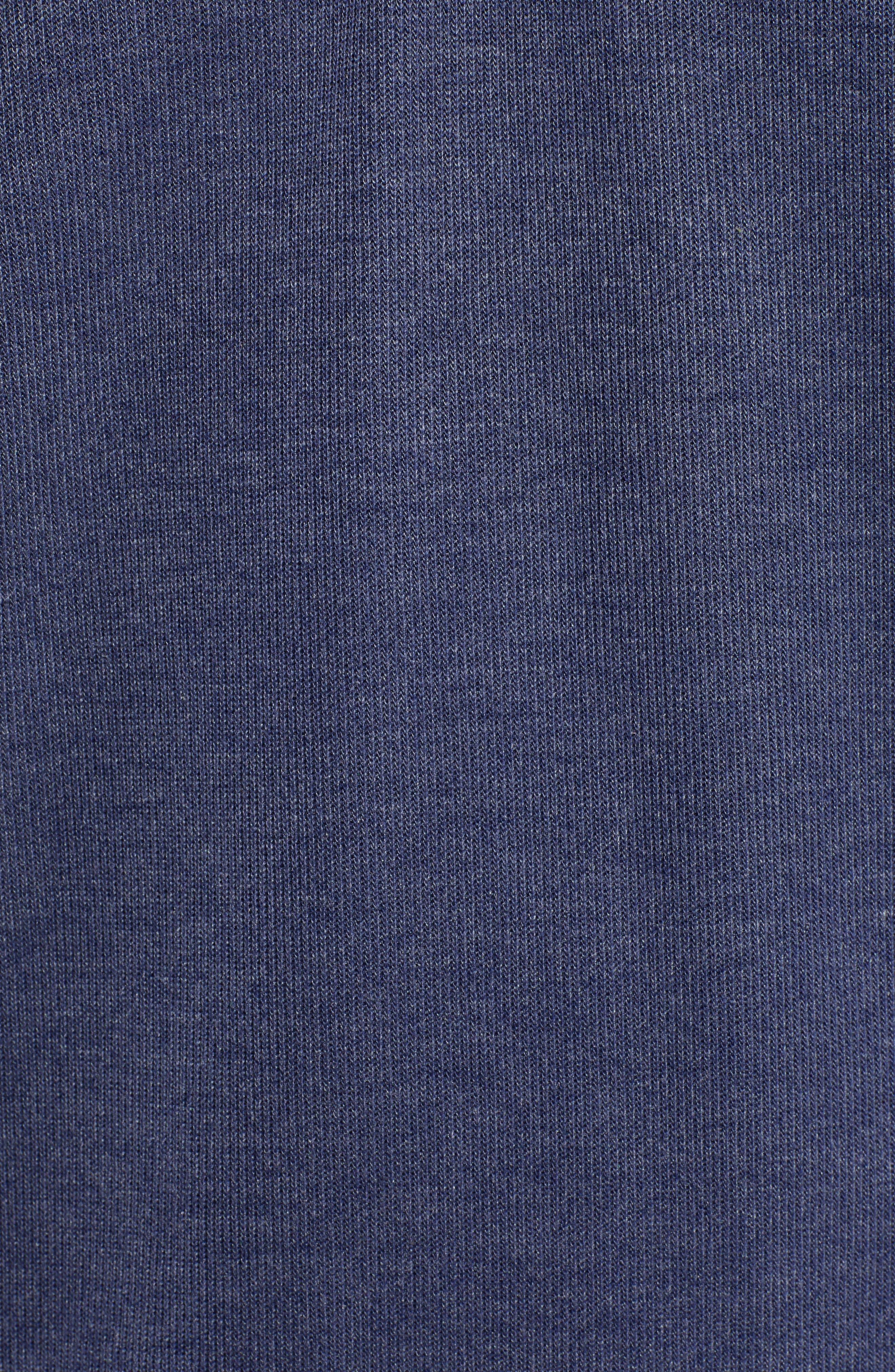Sideline Quarter Zip Pullover,                             Alternate thumbnail 5, color,                             OCEAN DEEP