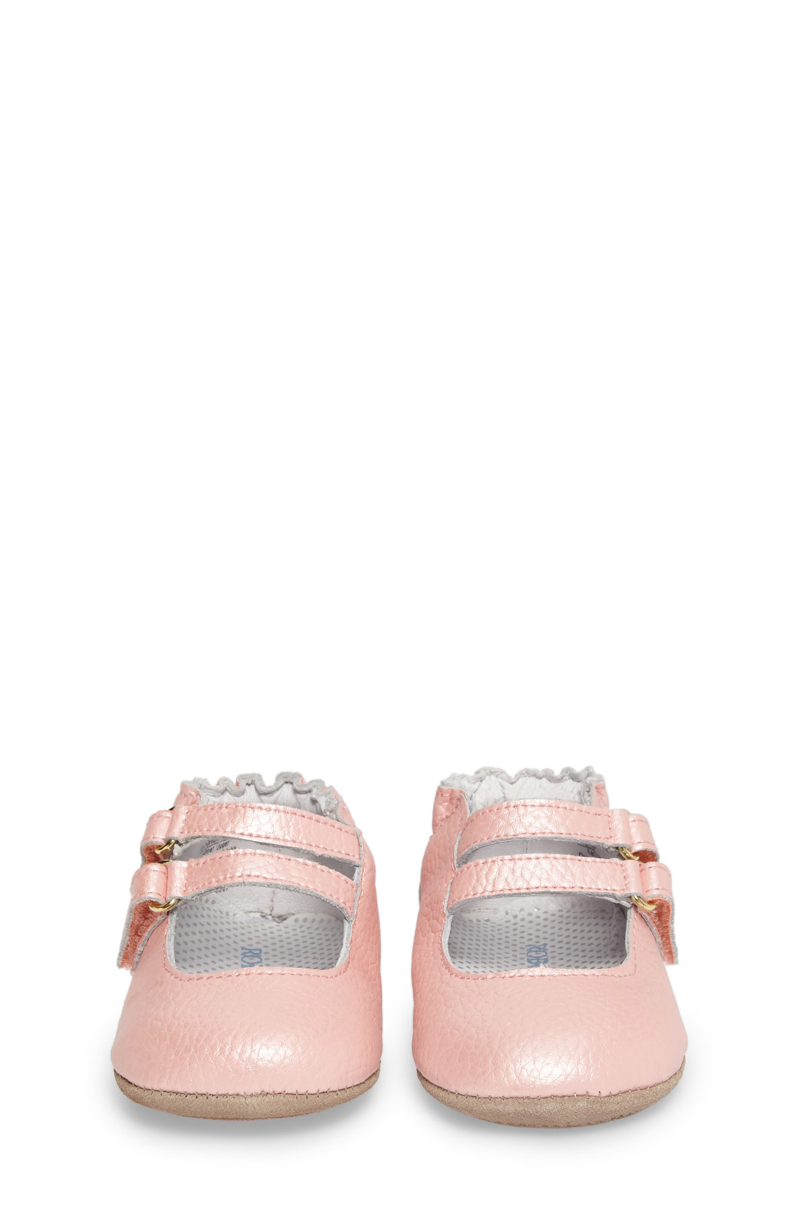 Rose Mary Jane Crib Shoe,                             Alternate thumbnail 4, color,                             ROSE