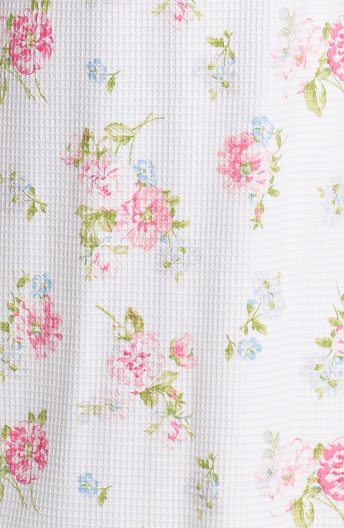 CAROLE HOCHMAN,                             Designs Long Floral Print Robe,                             Alternate thumbnail 3, color,                             113