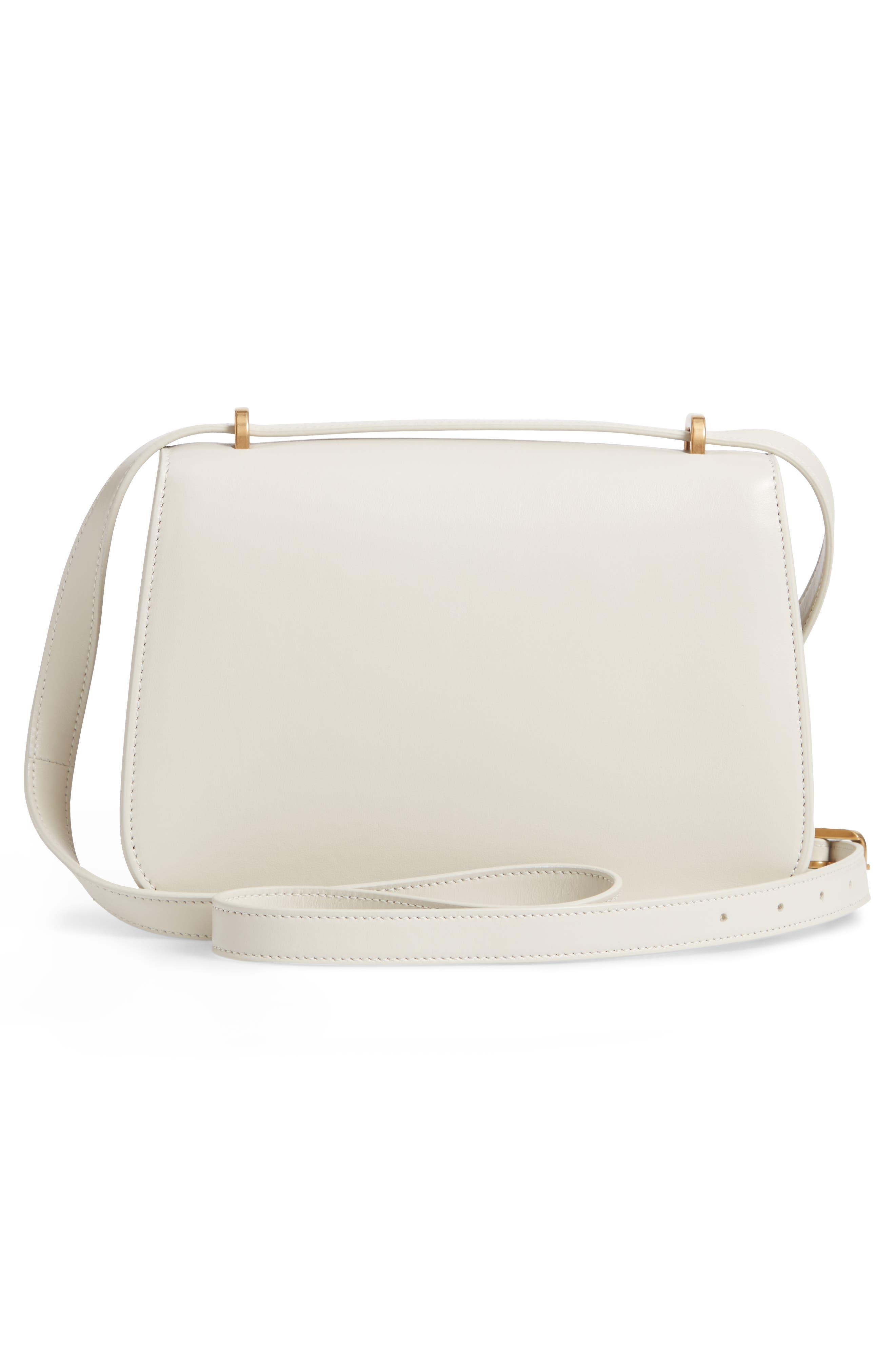Spontini Calfskin Leather Shoulder Bag,                             Alternate thumbnail 3, color,                             CREMASOFT