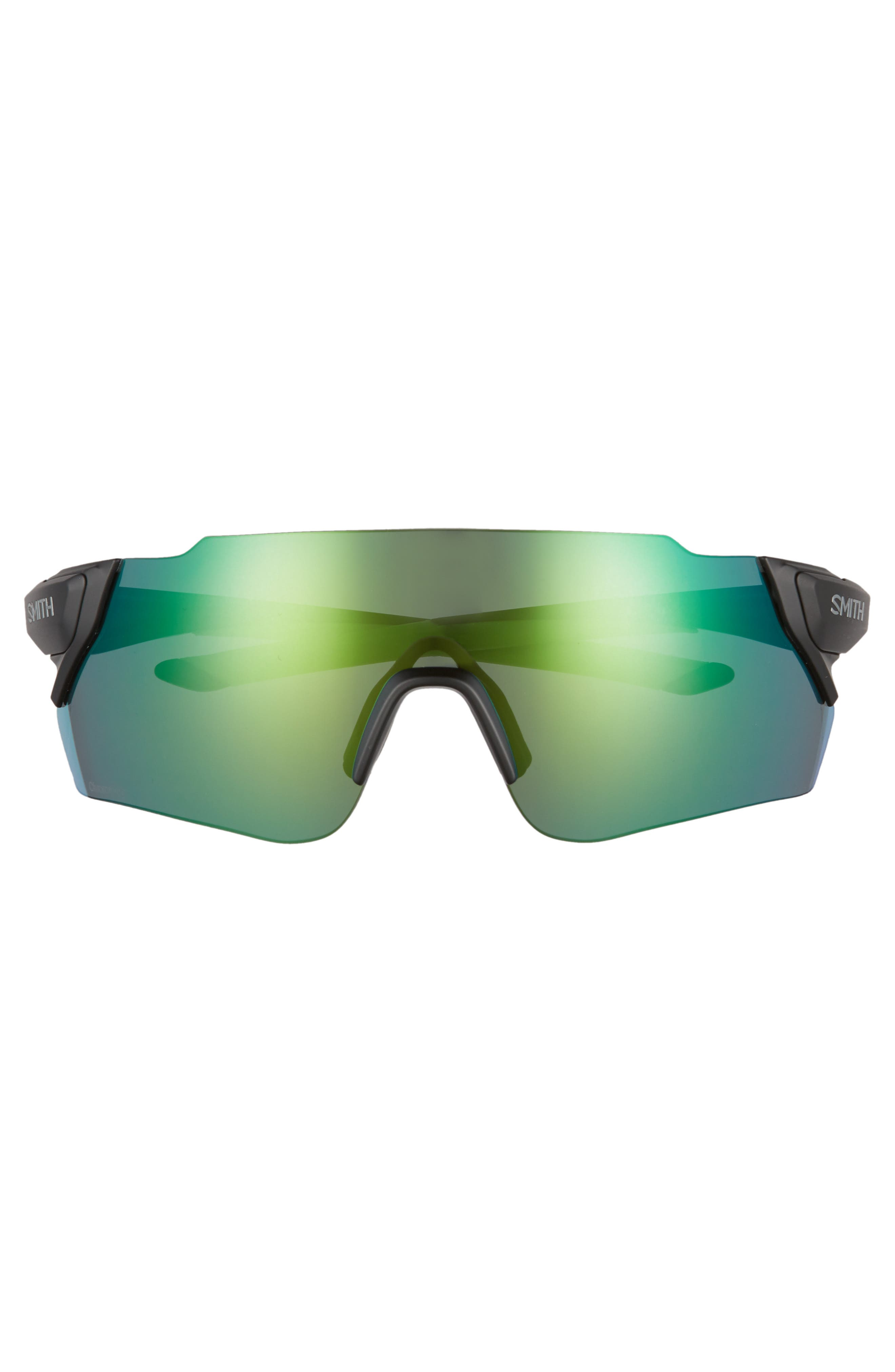 Attack Max 130mm ChromaPop<sup>™</sup> Shield Sunglasses,                             Alternate thumbnail 2, color,                             MATTE BLACK REACTOR