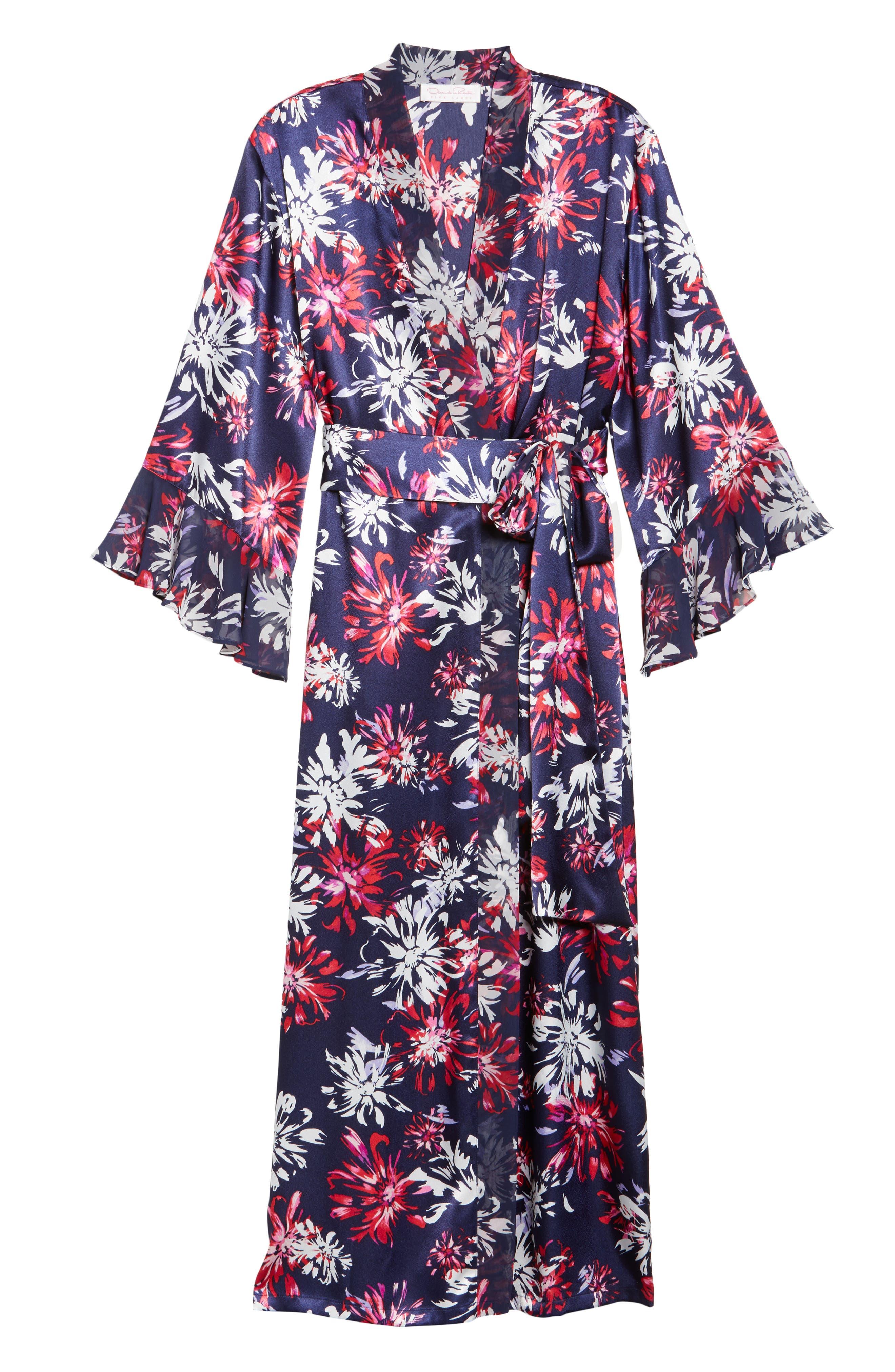 Sleepwear Satin Robe,                             Alternate thumbnail 6, color,