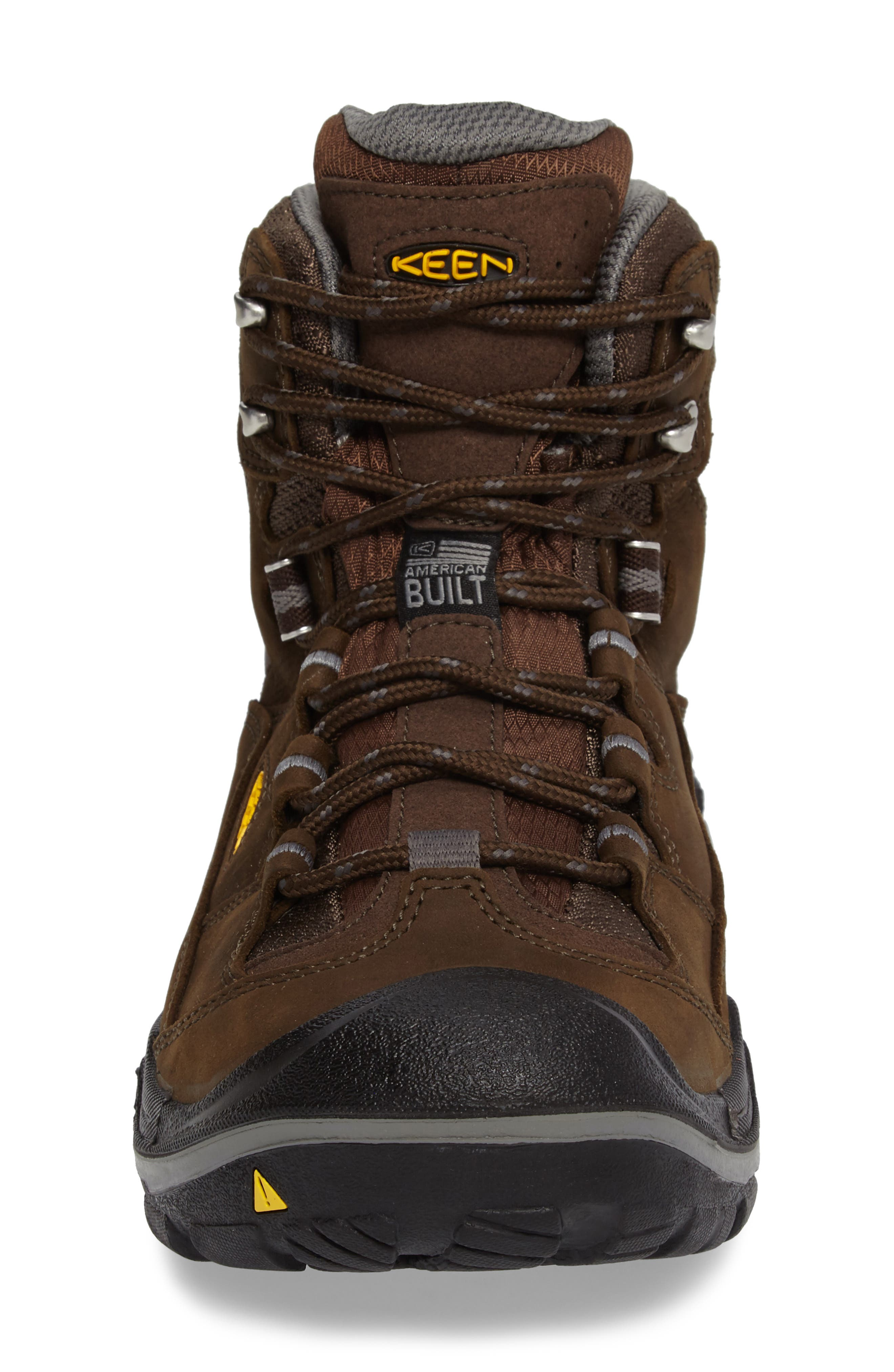 Durand Mid Waterproof Hiking Boot,                             Alternate thumbnail 4, color,                             BROWN LEATHER
