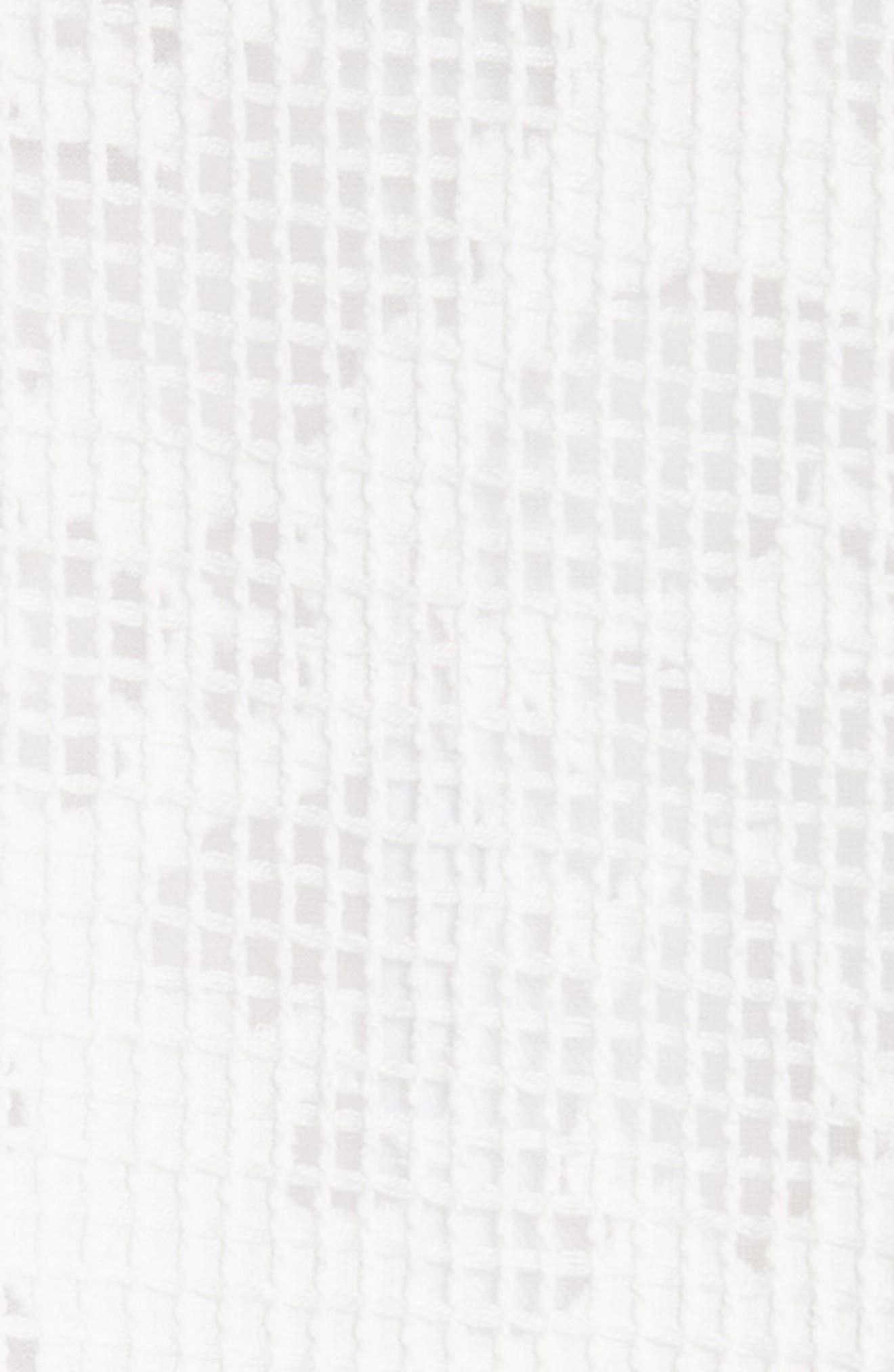 Burnout Netting Vest,                             Alternate thumbnail 6, color,                             CREAM/ BIANCO