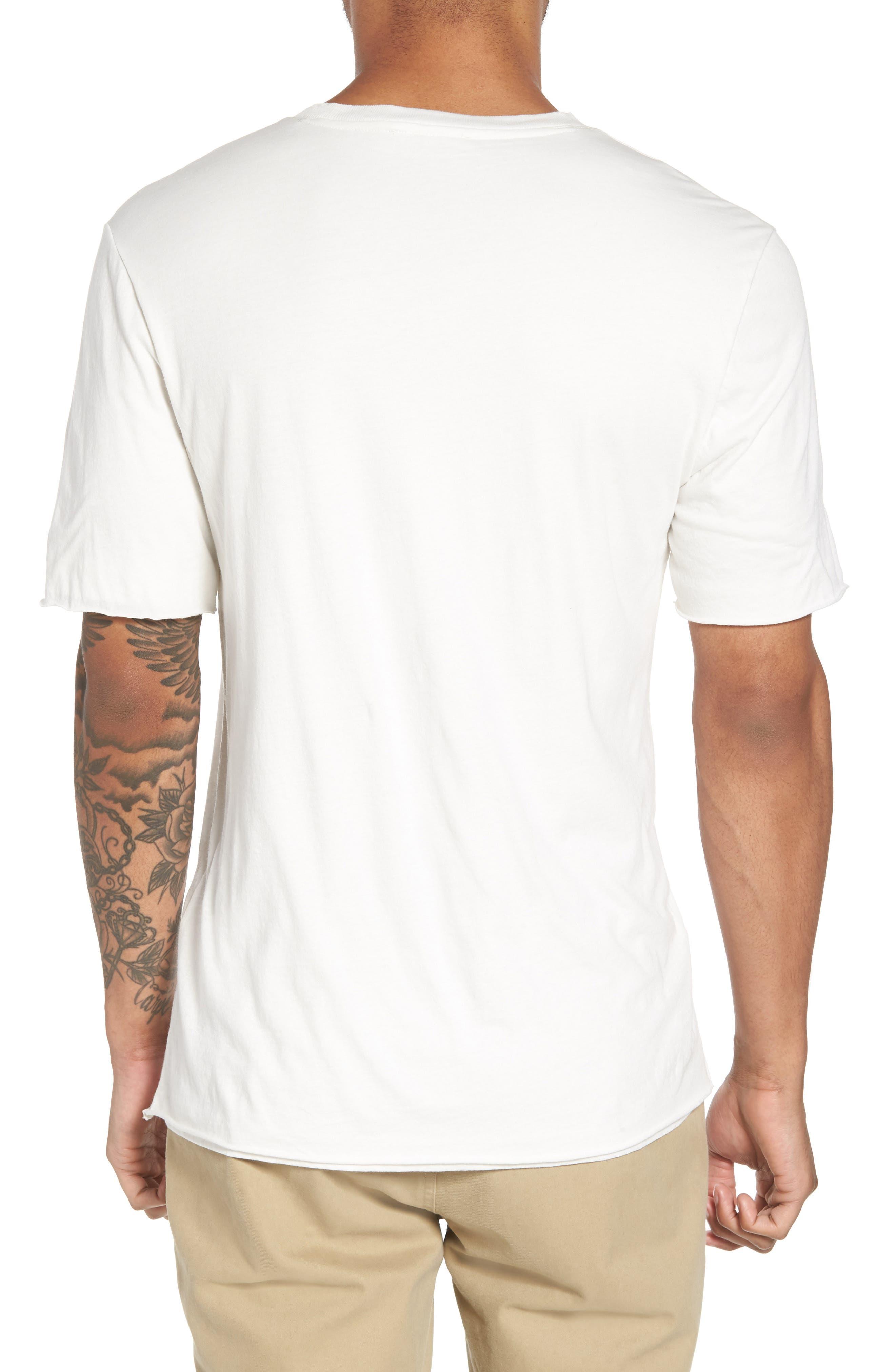 Double Layer Slim Fit T-Shirt,                             Alternate thumbnail 2, color,                             100
