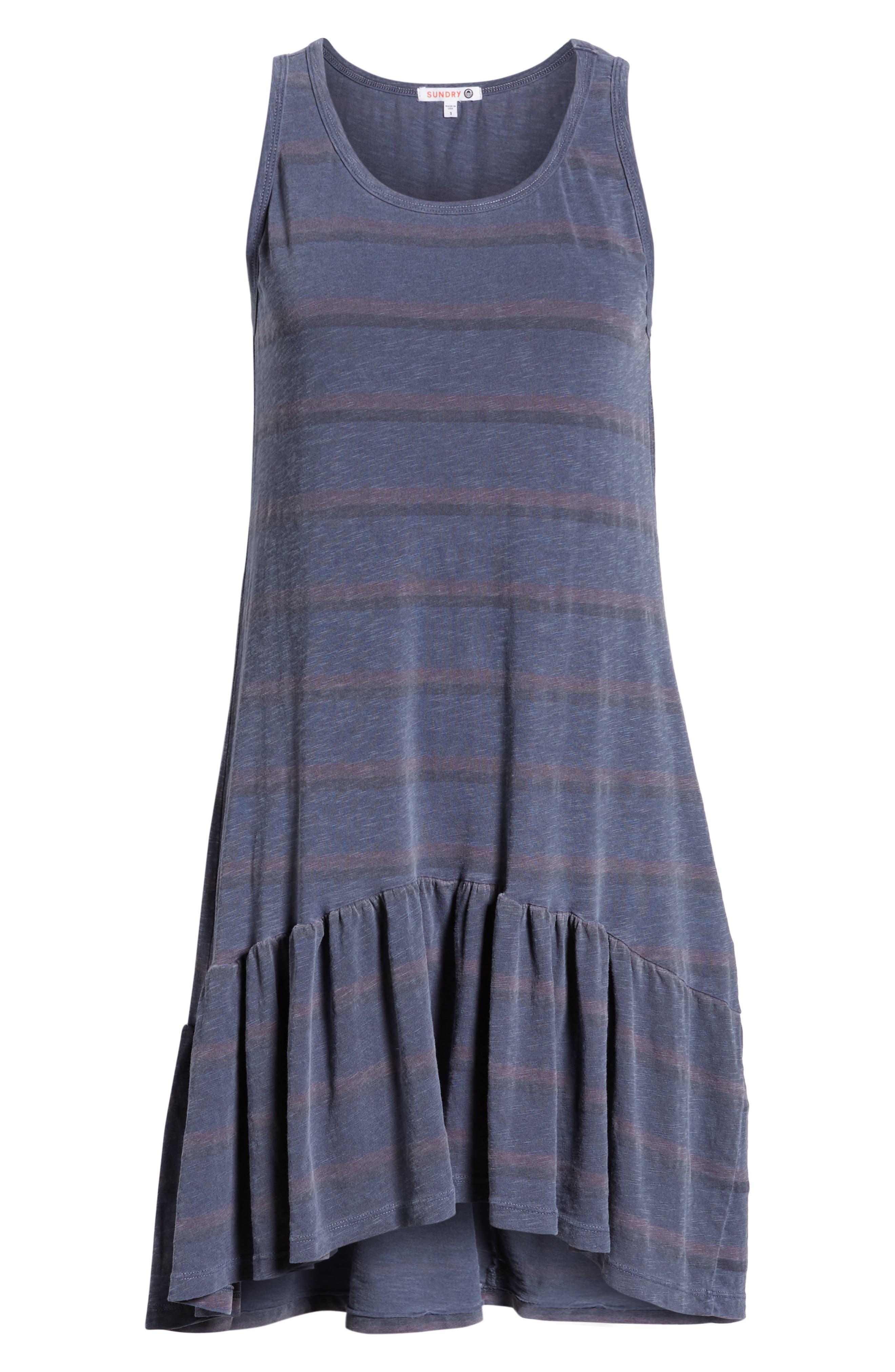 Ruffle Tank Dress,                             Alternate thumbnail 8, color,