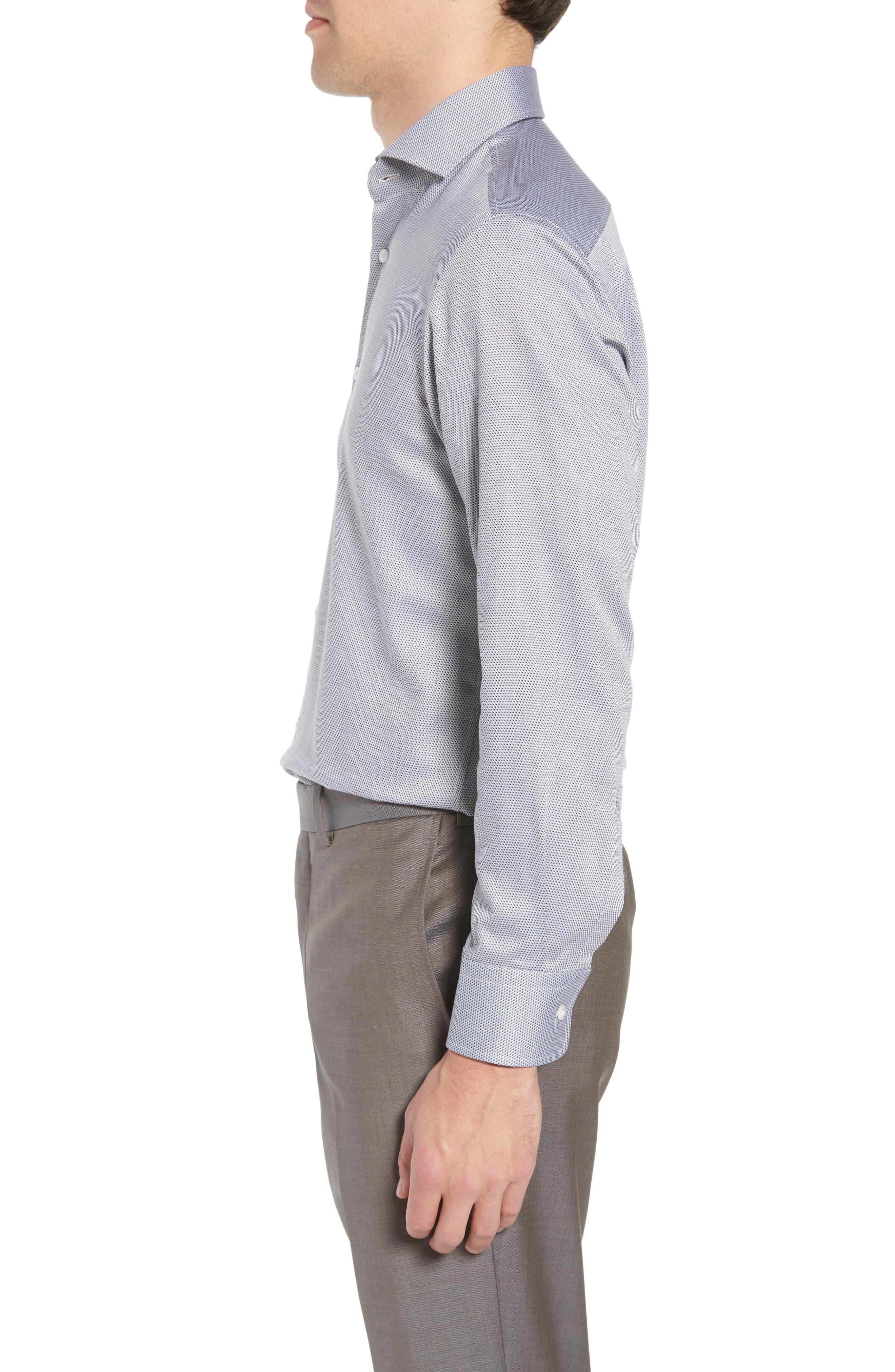 Sharp Fit Dress Shirt,                             Alternate thumbnail 4, color,                             GREY