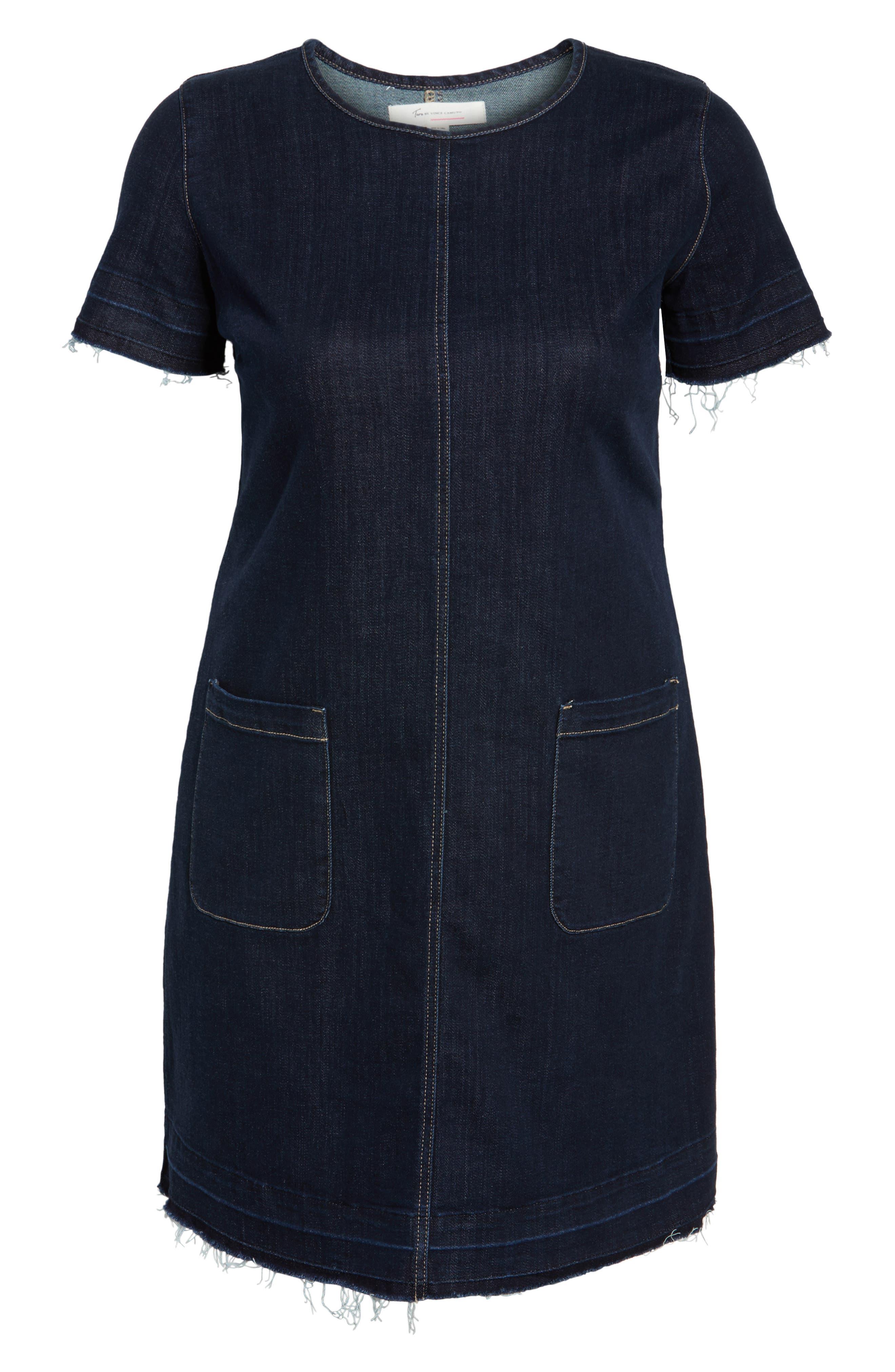 Release Hem Denim Dress,                             Alternate thumbnail 6, color,                             439