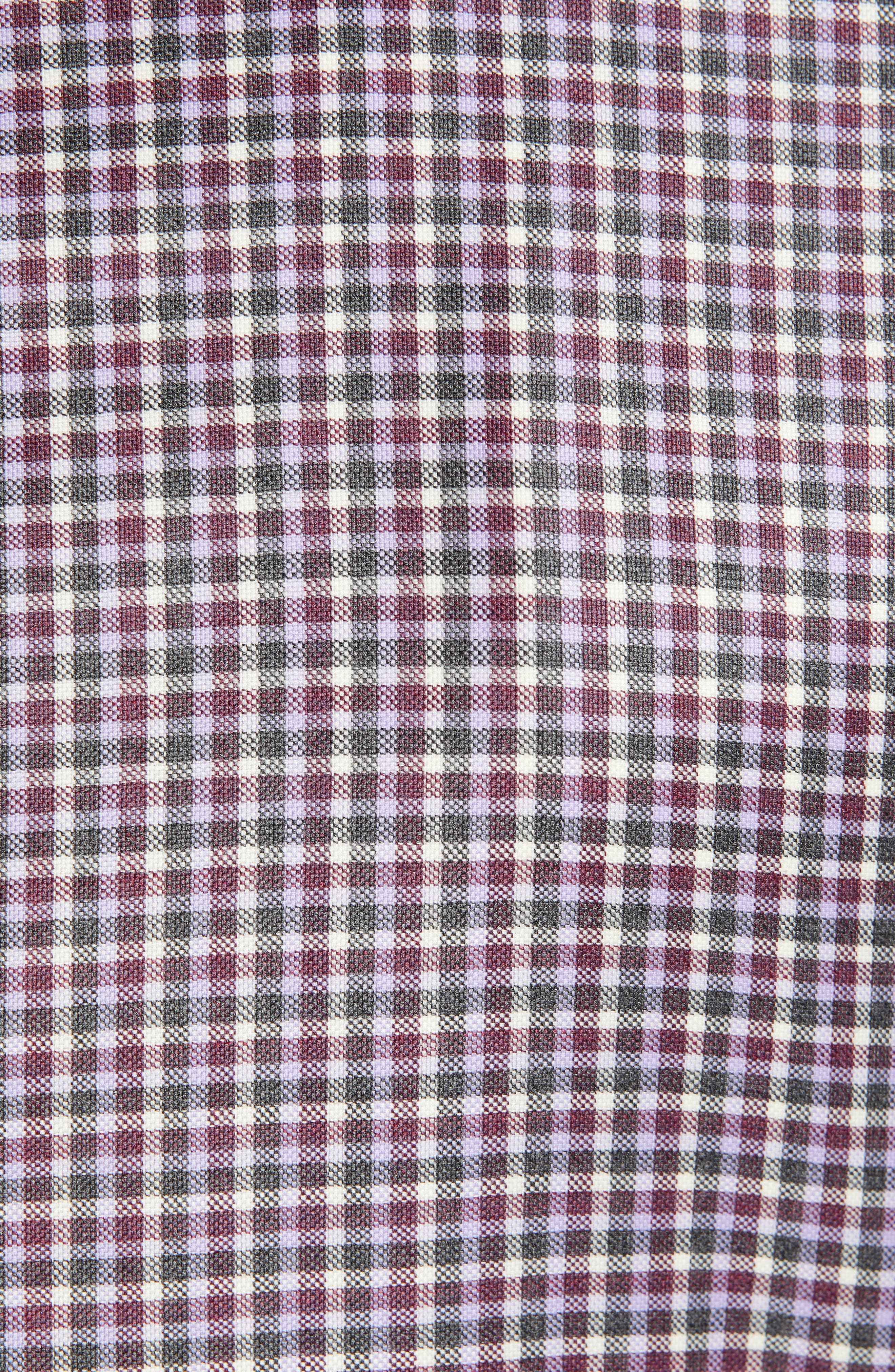 Connor Classic Fit Check Wool Sport Coat,                             Alternate thumbnail 6, color,                             BERRY