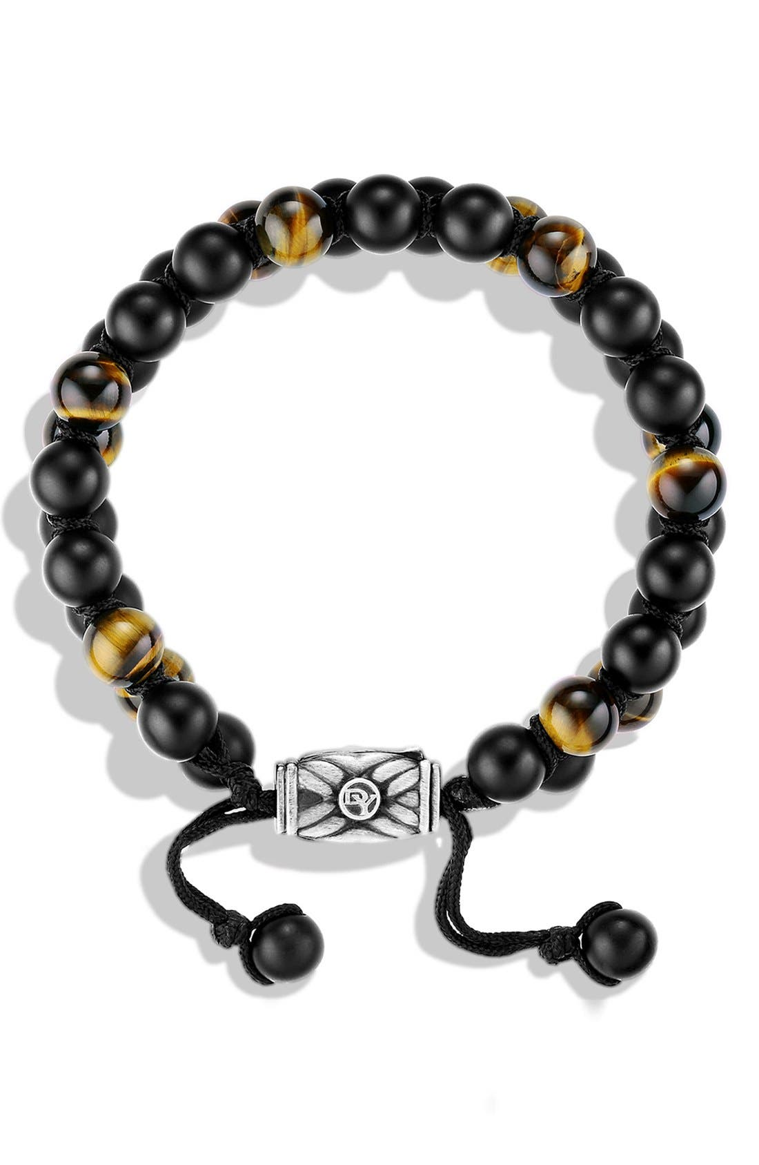 DAVID YURMAN,                             'Spiritual Beads' Two-Row Stone Bracelet,                             Alternate thumbnail 2, color,                             BLACK ONYX