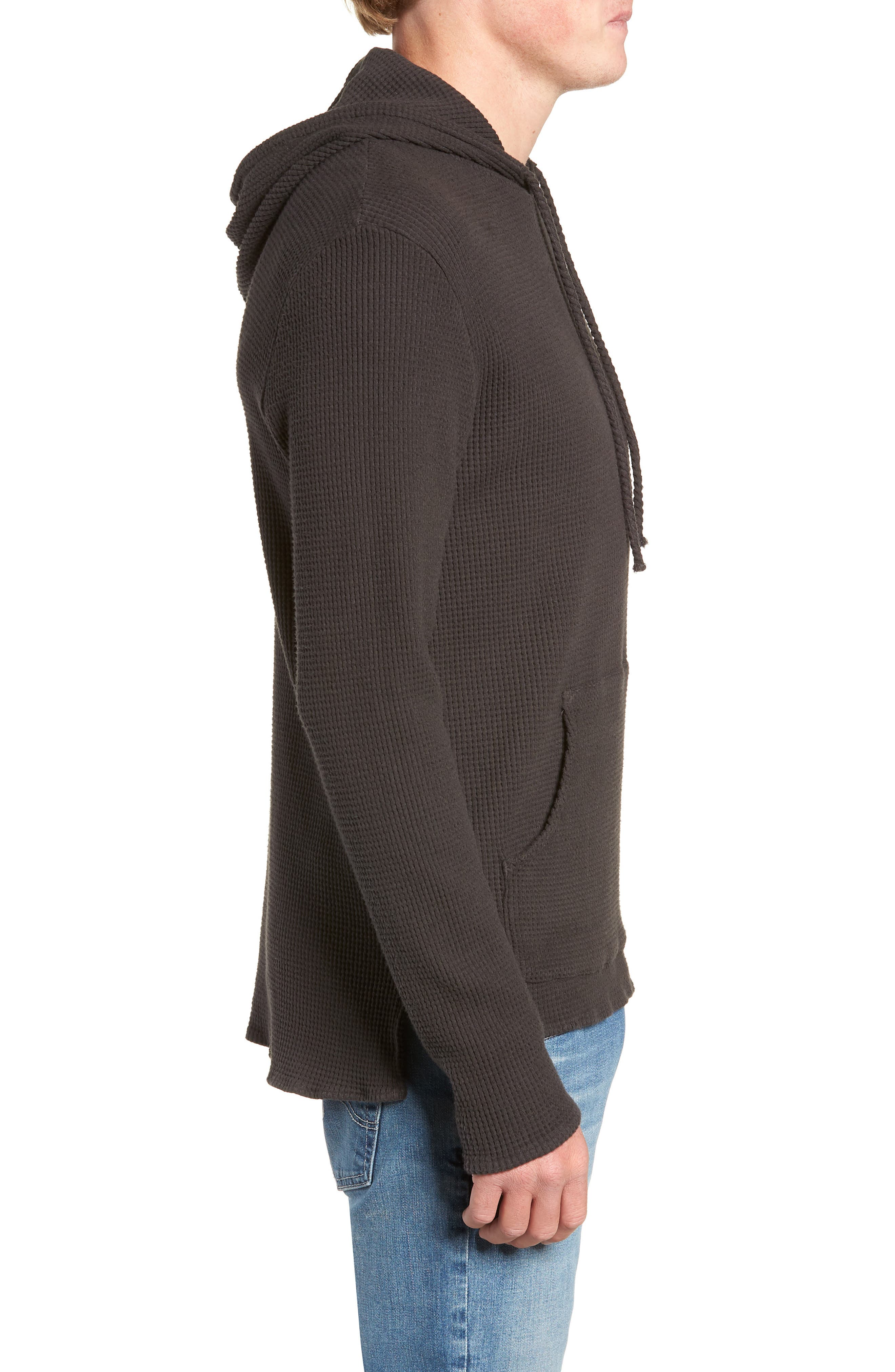 Thermal Knit Pullover Hoodie,                             Alternate thumbnail 3, color,                             020