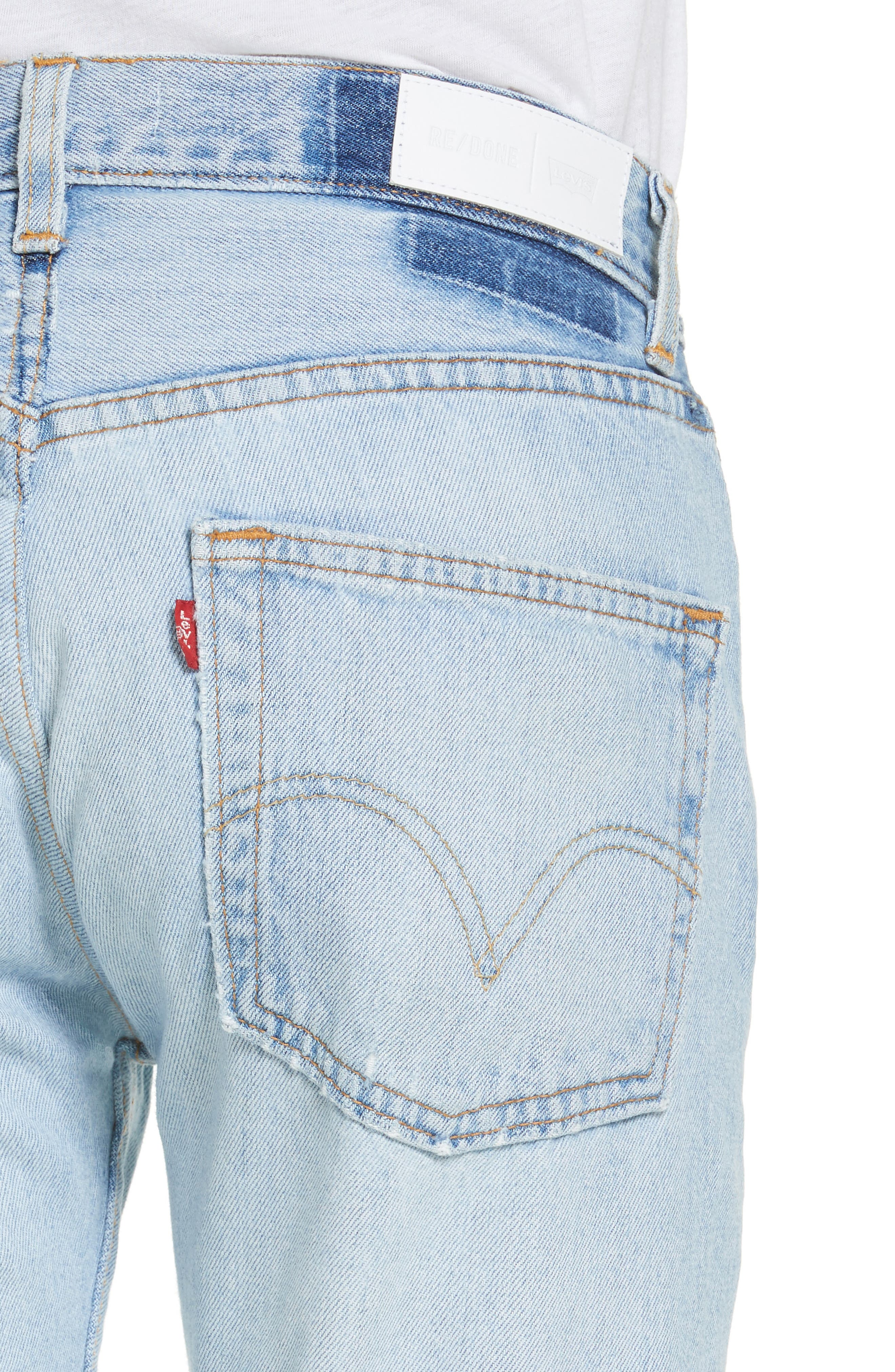 Reconstructed Crop Jeans,                             Alternate thumbnail 4, color,                             400
