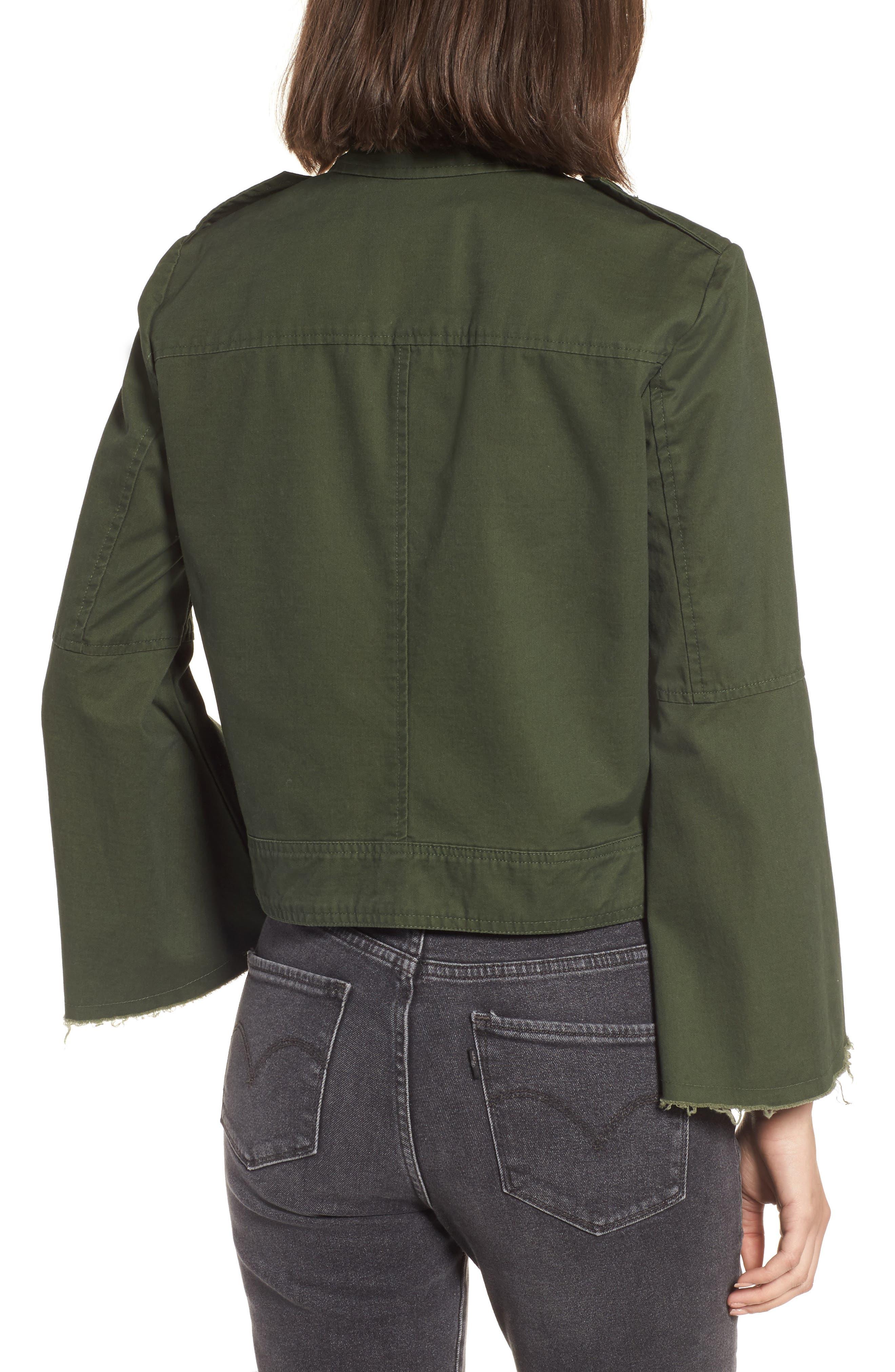 Jennie Cotton Twill Army Jacket,                             Alternate thumbnail 2, color,                             301