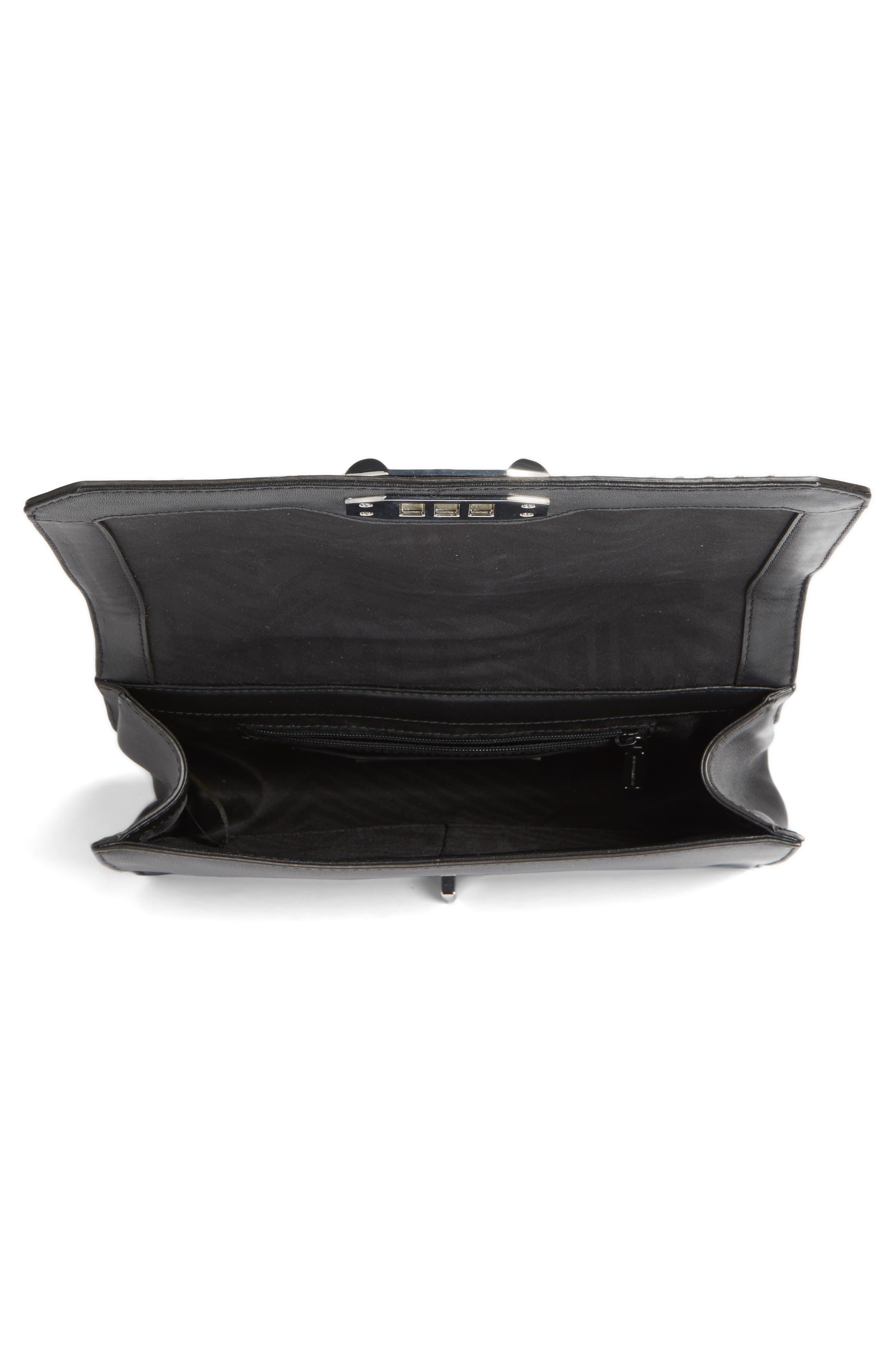 Love Leather Convertible Crossbody Bag,                             Alternate thumbnail 4, color,                             001