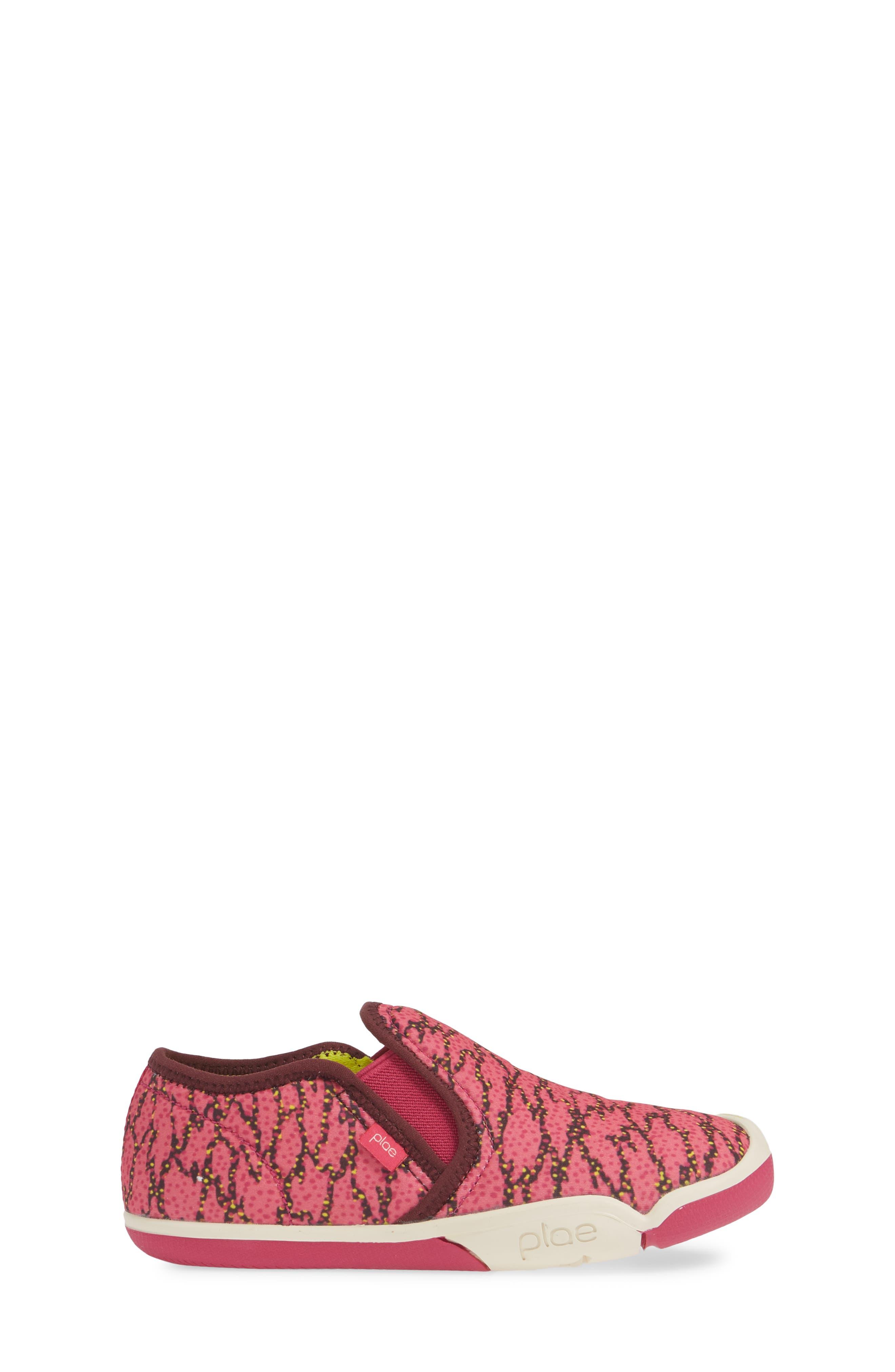 PLAE,                             Migi Slip-On Sneaker,                             Alternate thumbnail 3, color,                             ELECTRIC FUCHSIA SURGE