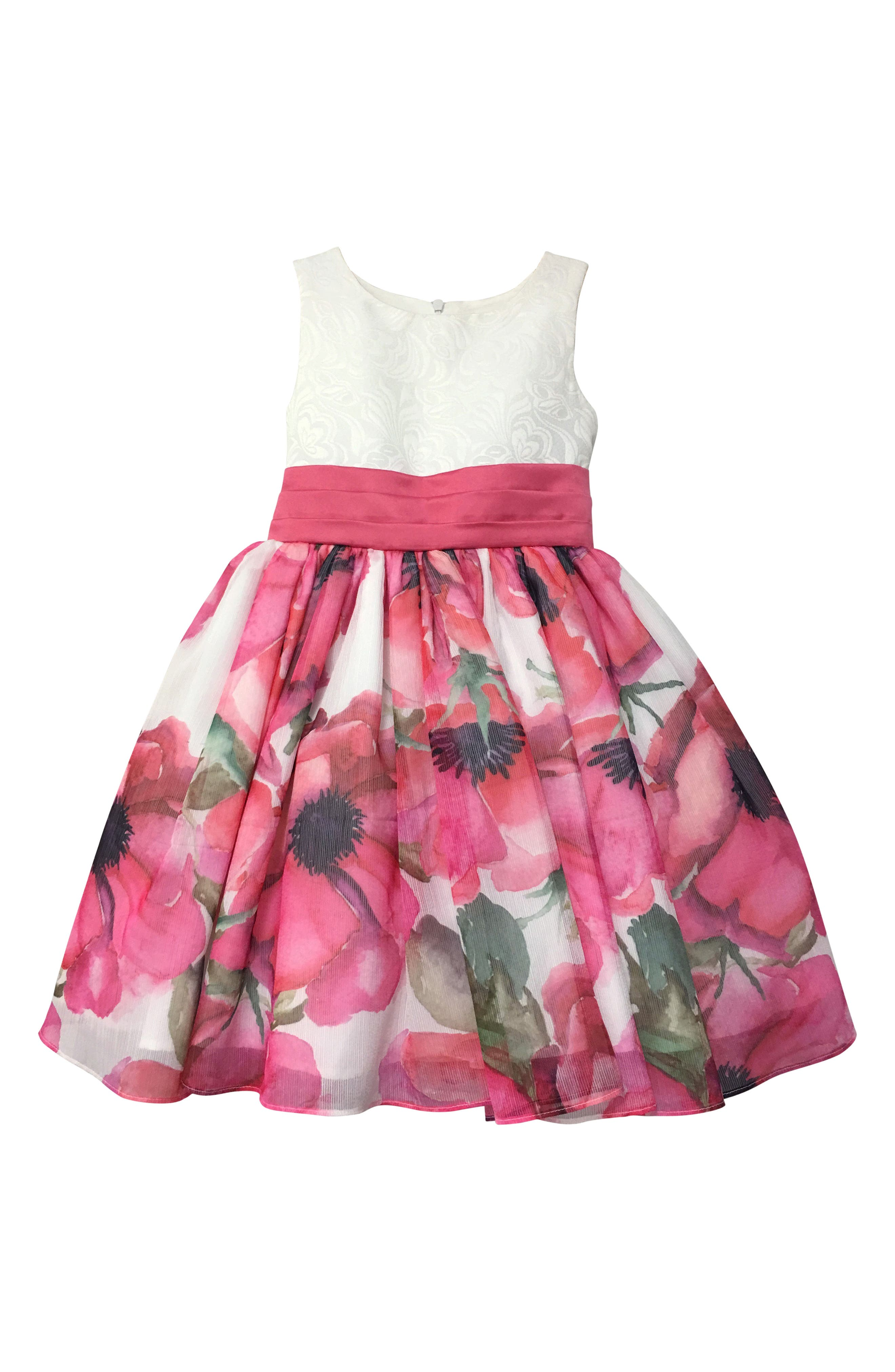 Resa Floral Party Dress,                             Main thumbnail 1, color,                             650