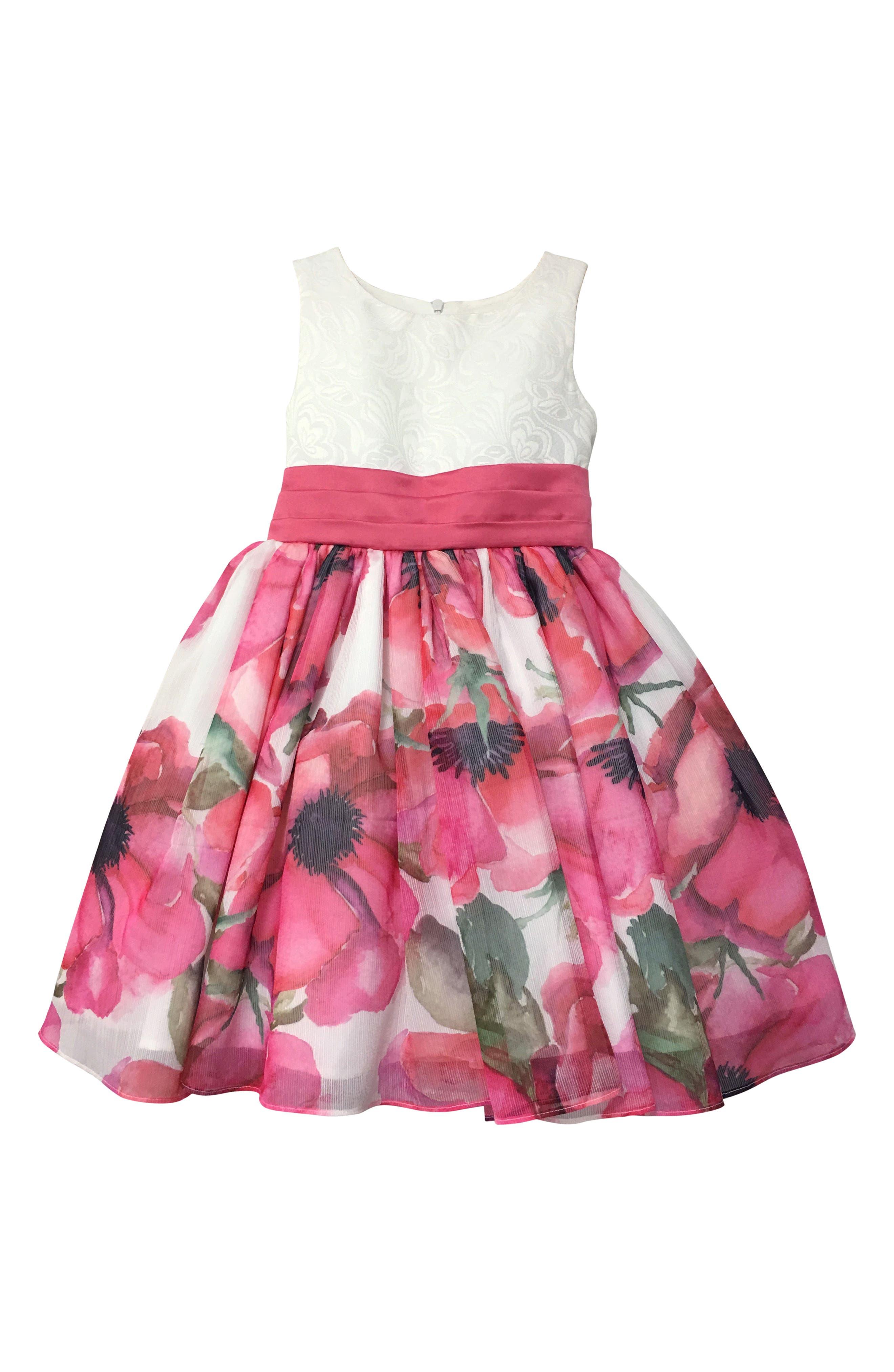 Resa Floral Party Dress,                         Main,                         color, 650