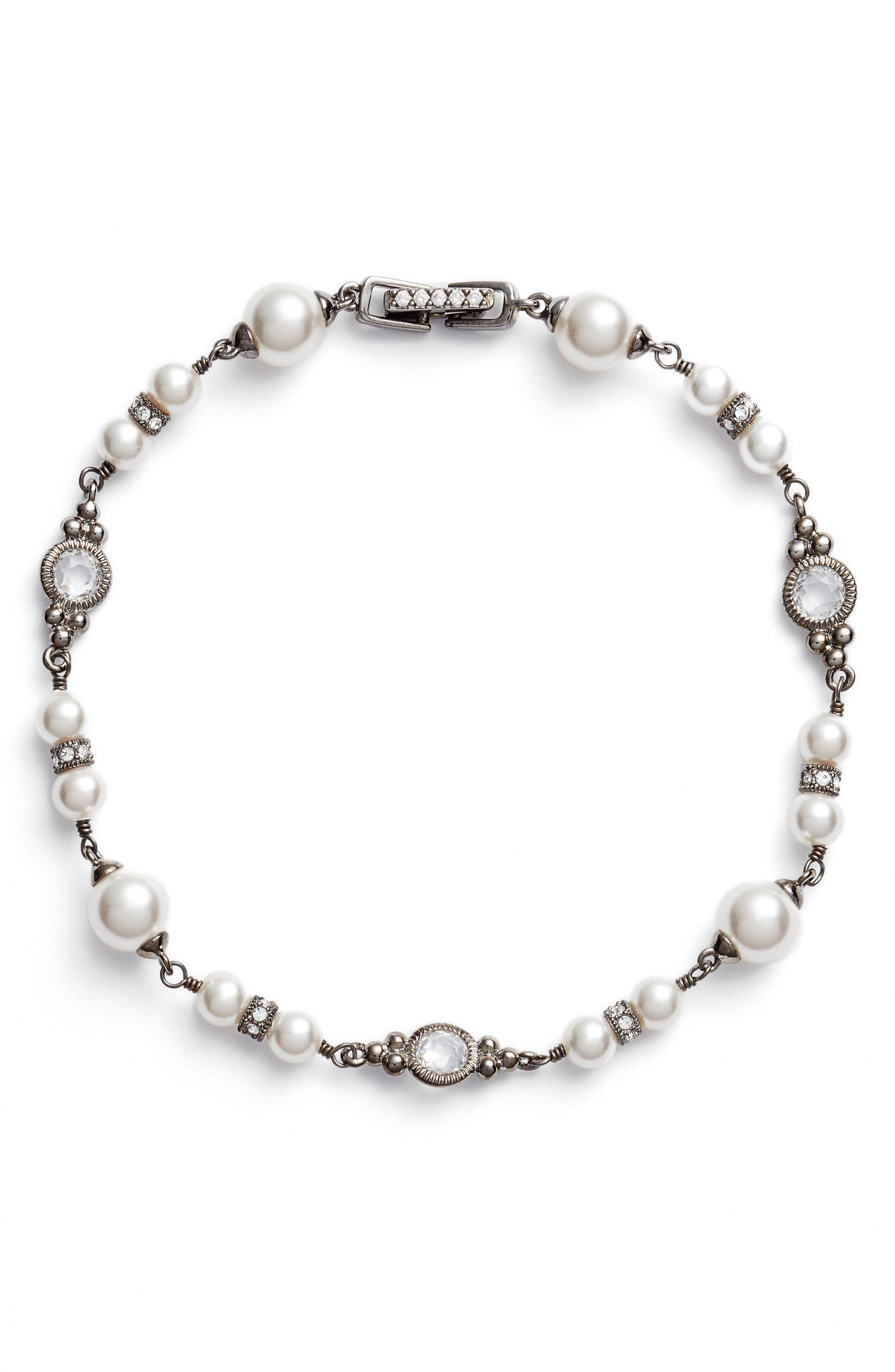 Imitation Pearl Bracelet,                             Main thumbnail 1, color,                             100