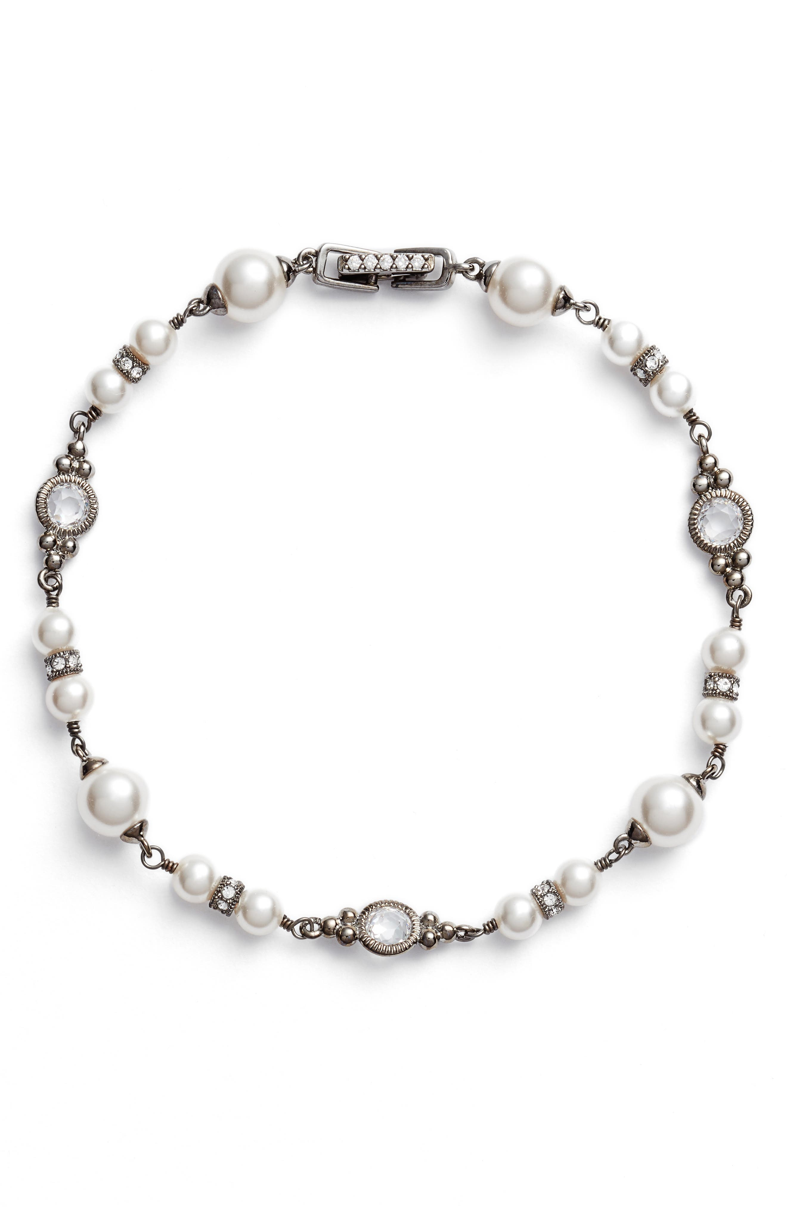 Imitation Pearl Bracelet,                         Main,                         color, 100