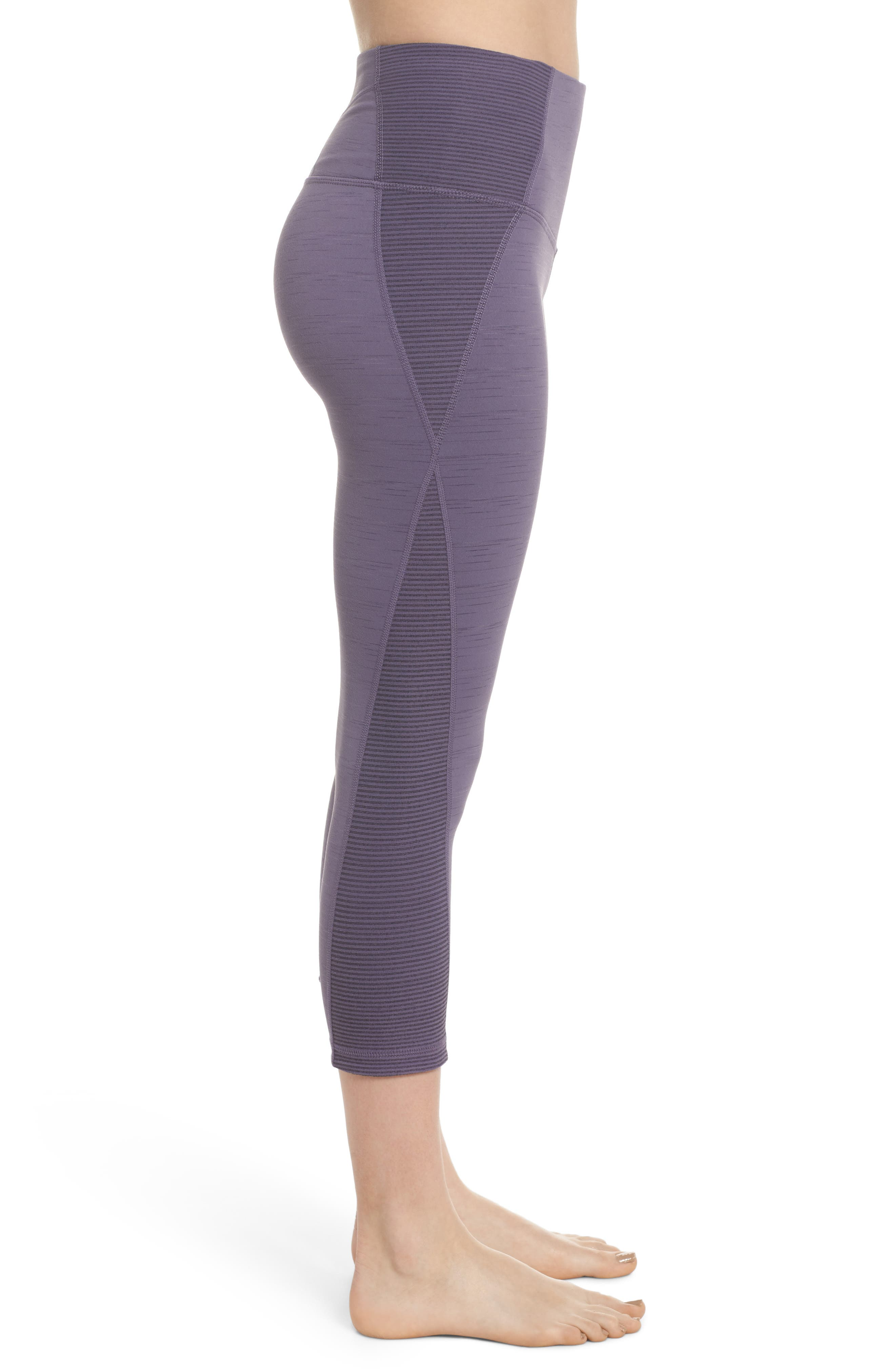 Sporty Splice High Waist Crop Leggings,                             Alternate thumbnail 13, color,