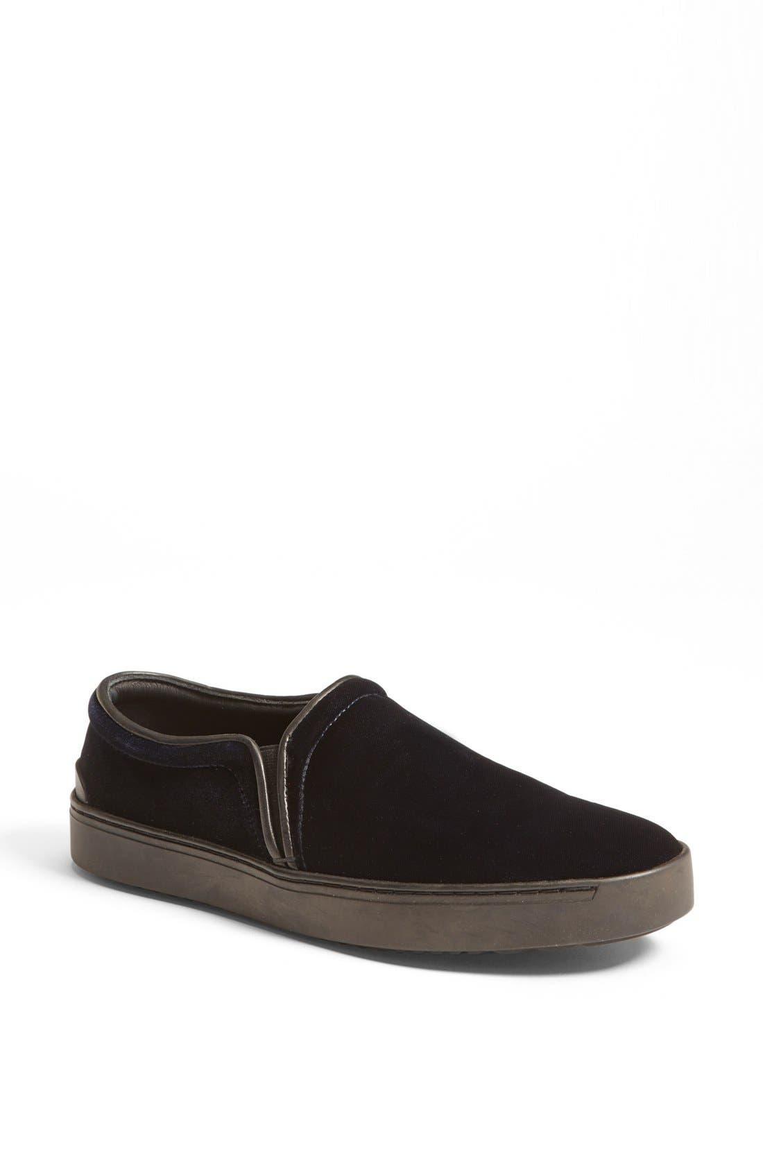 RAG & BONE,                             'Kent' Italian Velvet Slip-On Sneaker,                             Main thumbnail 1, color,                             410