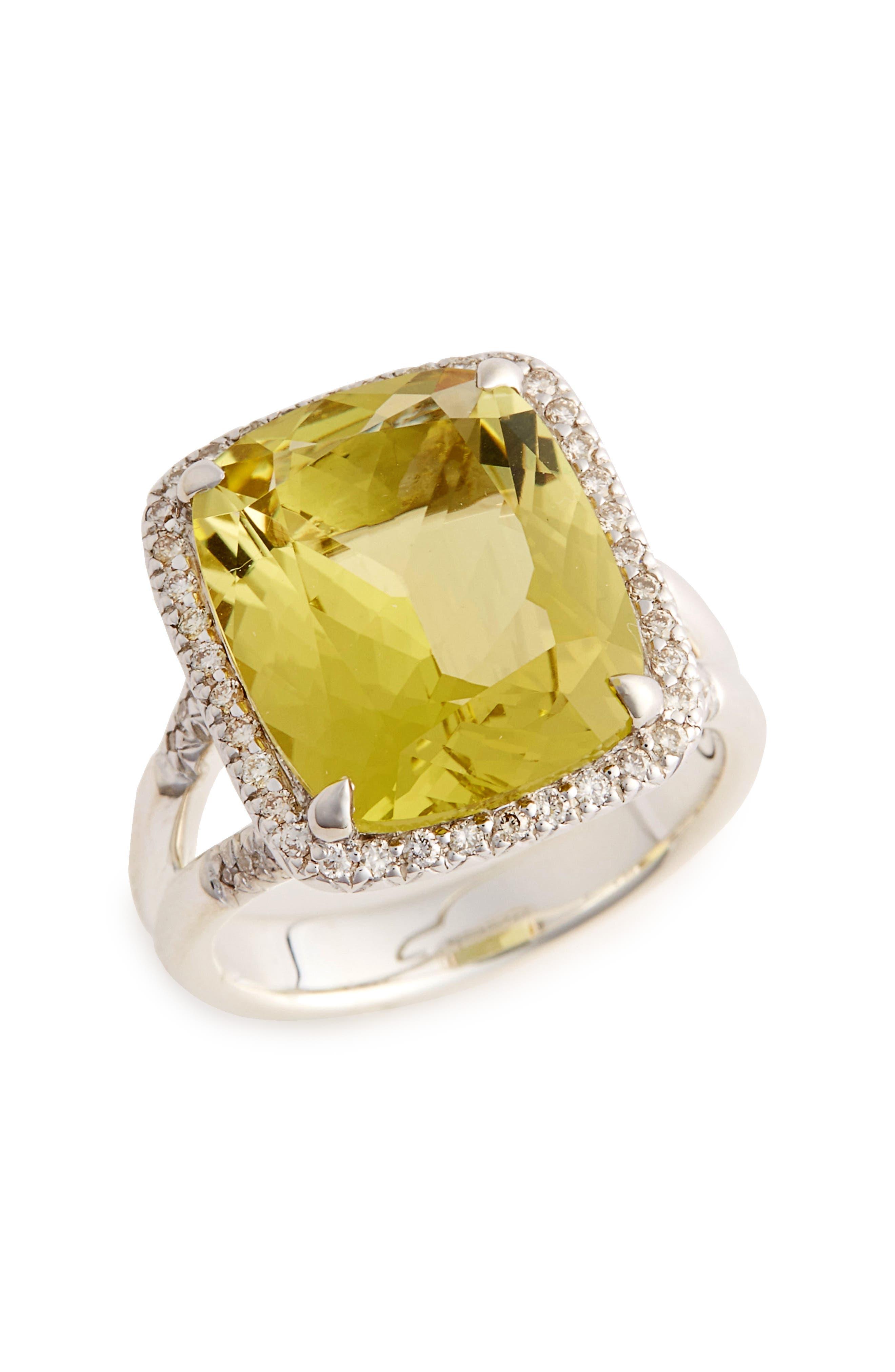 Classic Chain Gemstone Ring,                             Main thumbnail 1, color,                             041