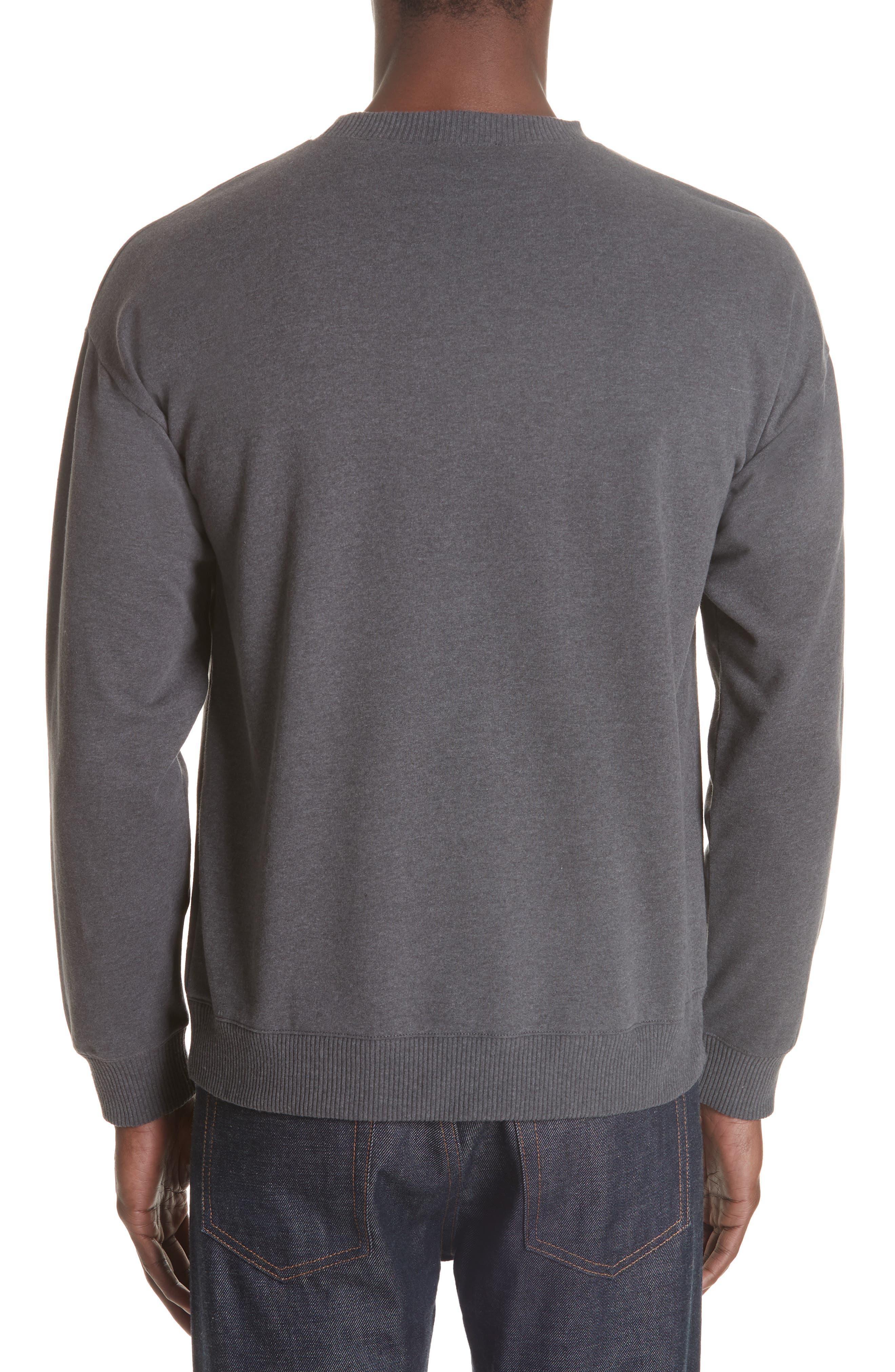 Roman Crewneck Sweatshirt,                             Alternate thumbnail 2, color,                             ANTHRACITE LAD