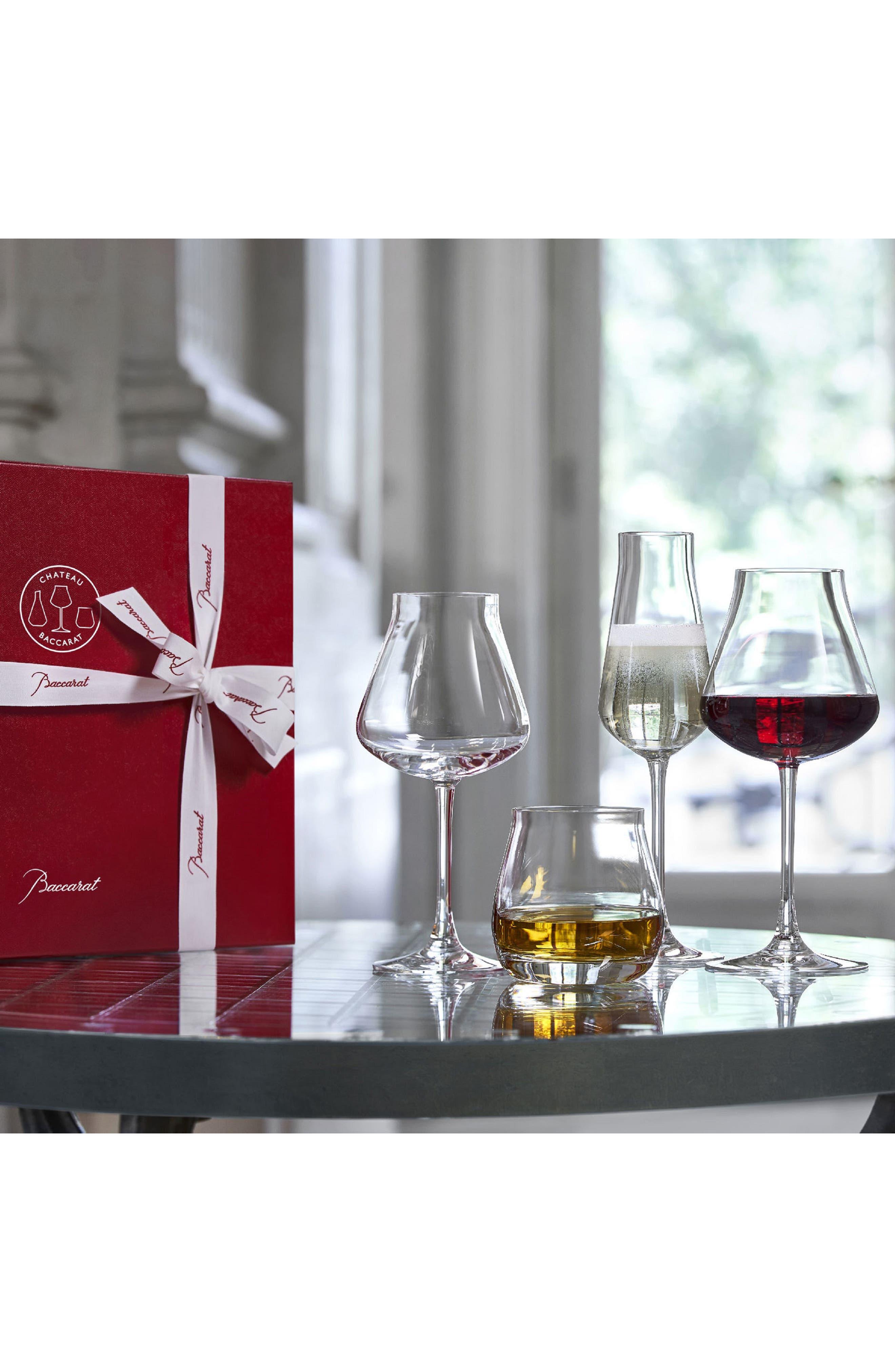 Chateau Baccarat Degustation Set of 4 Lead Crystal Tasting Glasses,                             Alternate thumbnail 2, color,                             CLEAR
