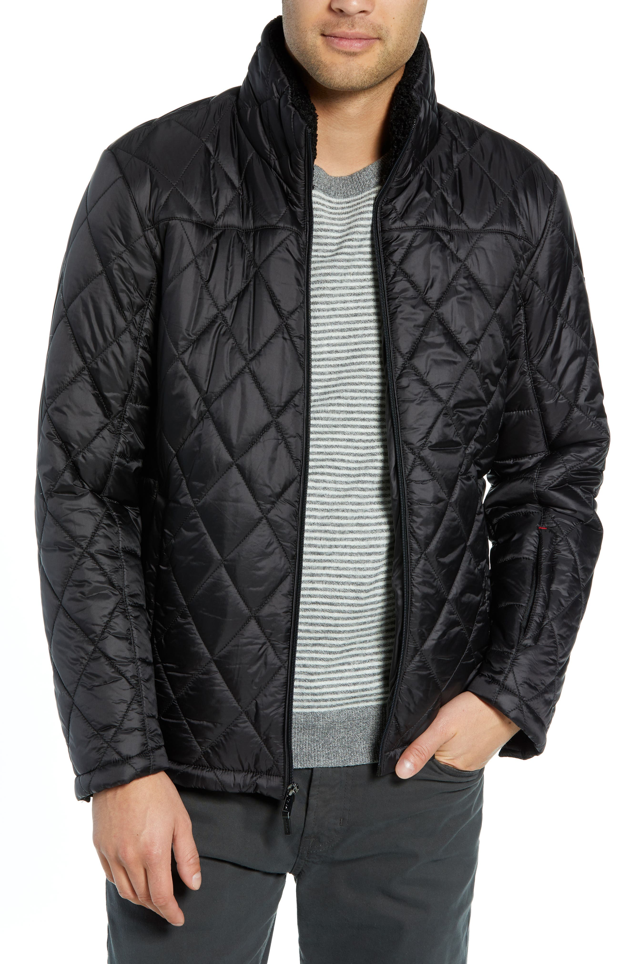 Transit Quilted Jacket,                         Main,                         color, BLACK