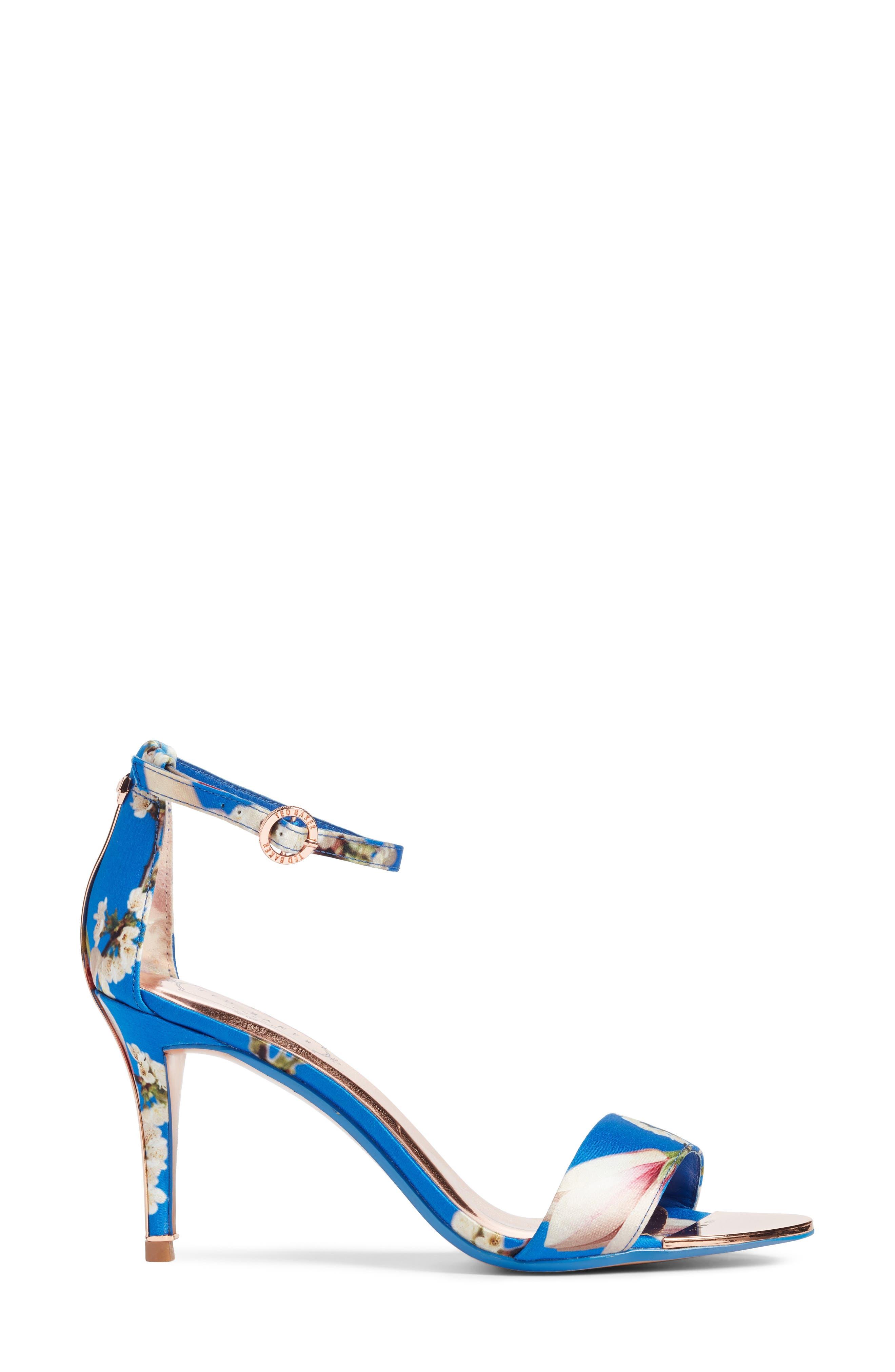 Mavbe Ankle Strap Sandal,                             Alternate thumbnail 3, color,                             BLUE HARMONY PRINT