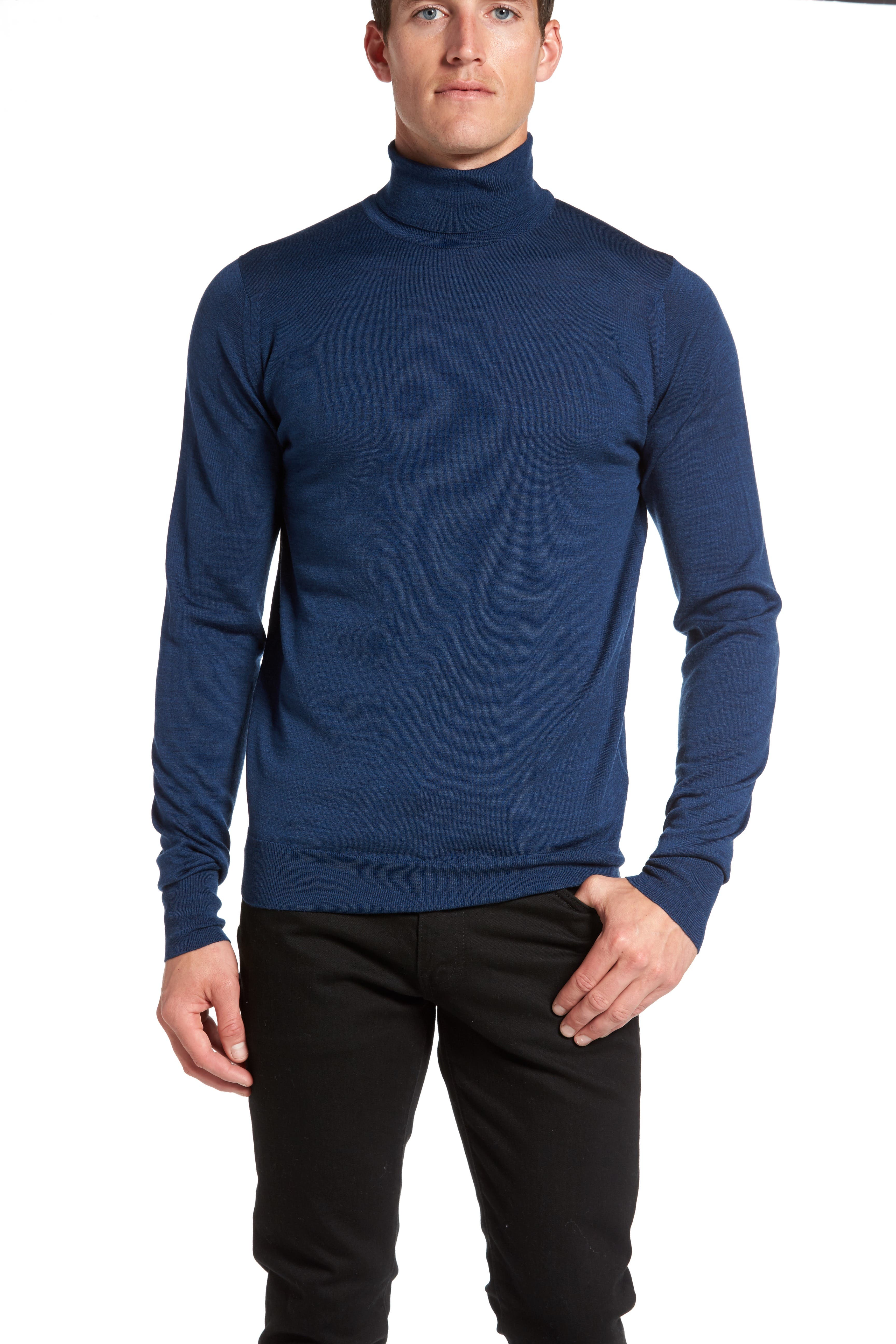 'Richards' Easy Fit Turtleneck Wool Sweater,                             Alternate thumbnail 16, color,