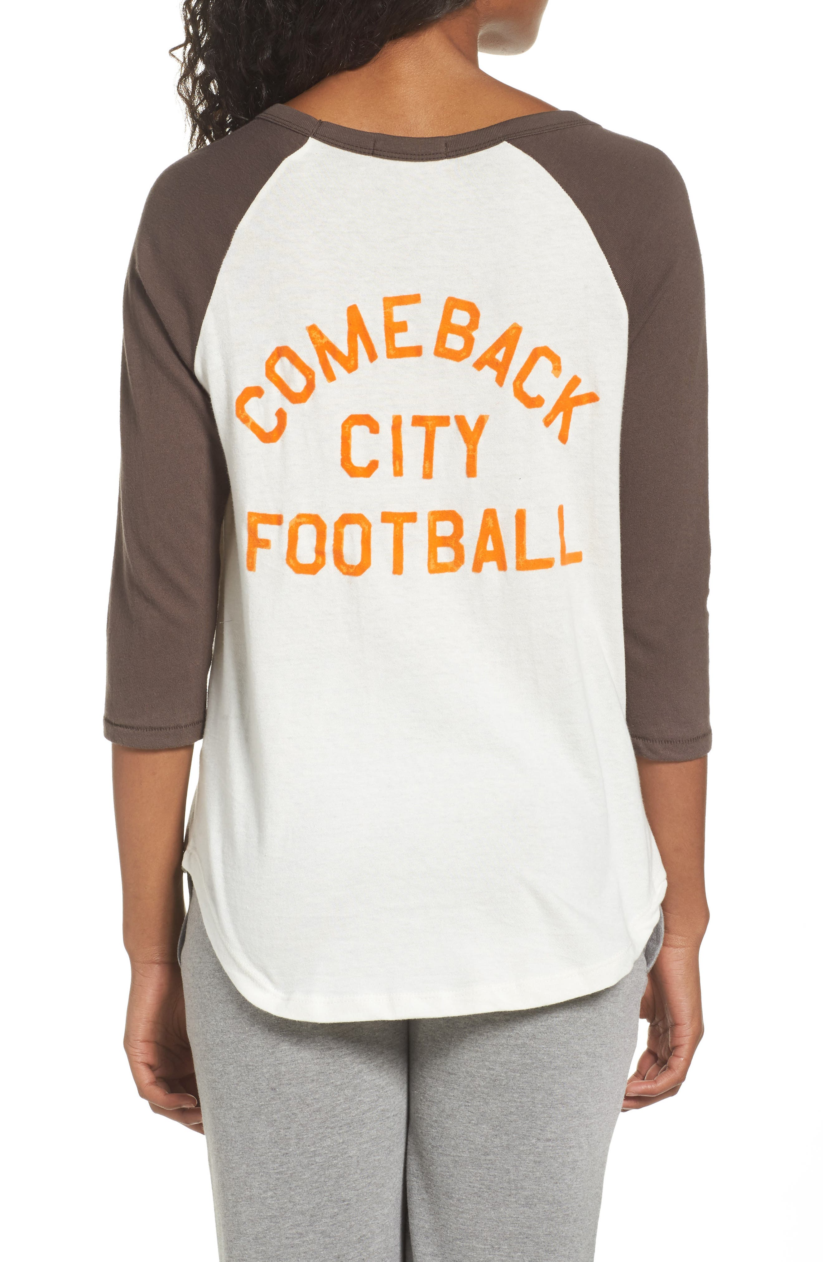 NFL Cleveland Browns Raglan Tee,                             Alternate thumbnail 2, color,                             189