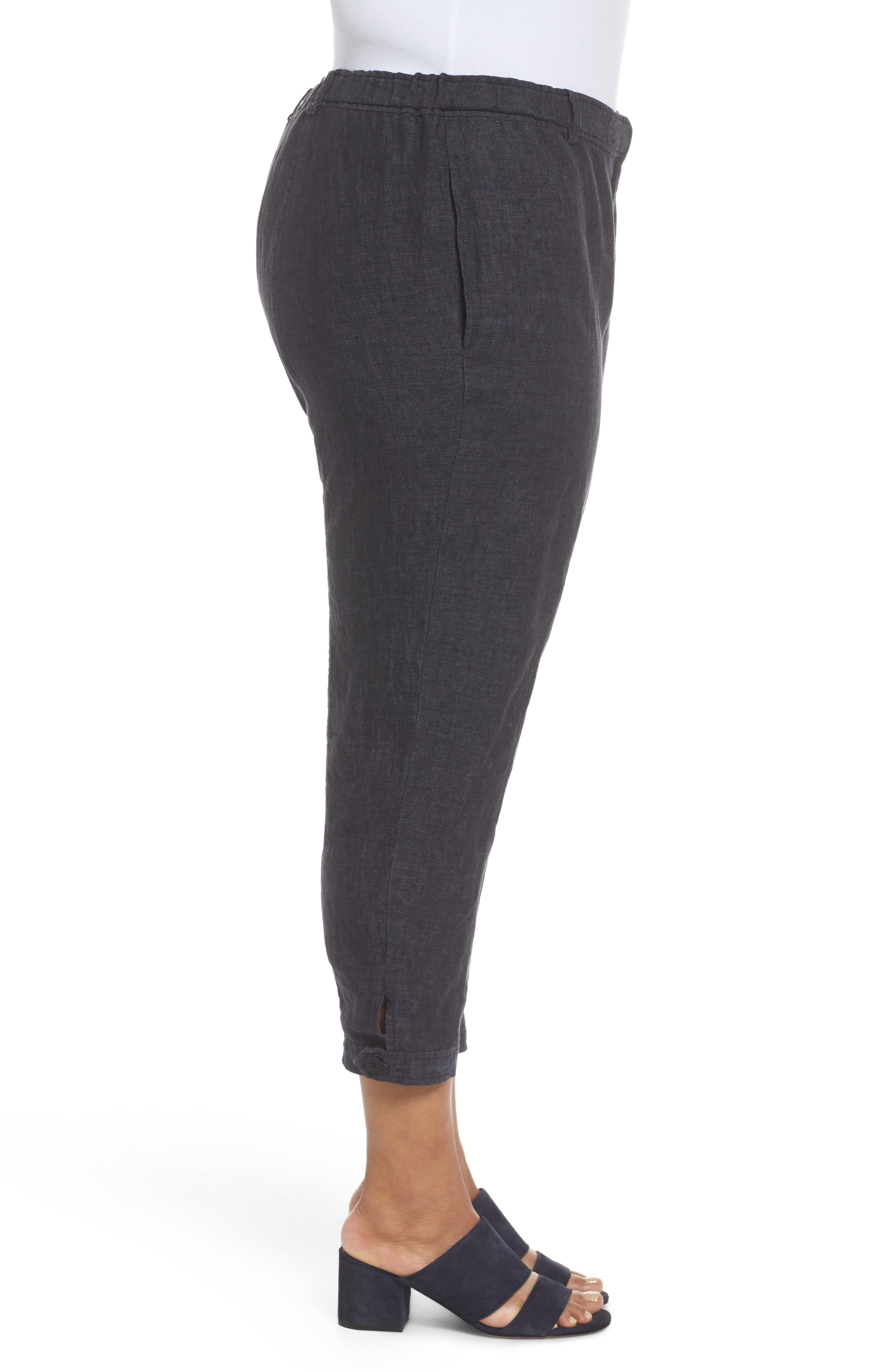 Easy Linen Ankle Pants,                             Alternate thumbnail 3, color,                             480