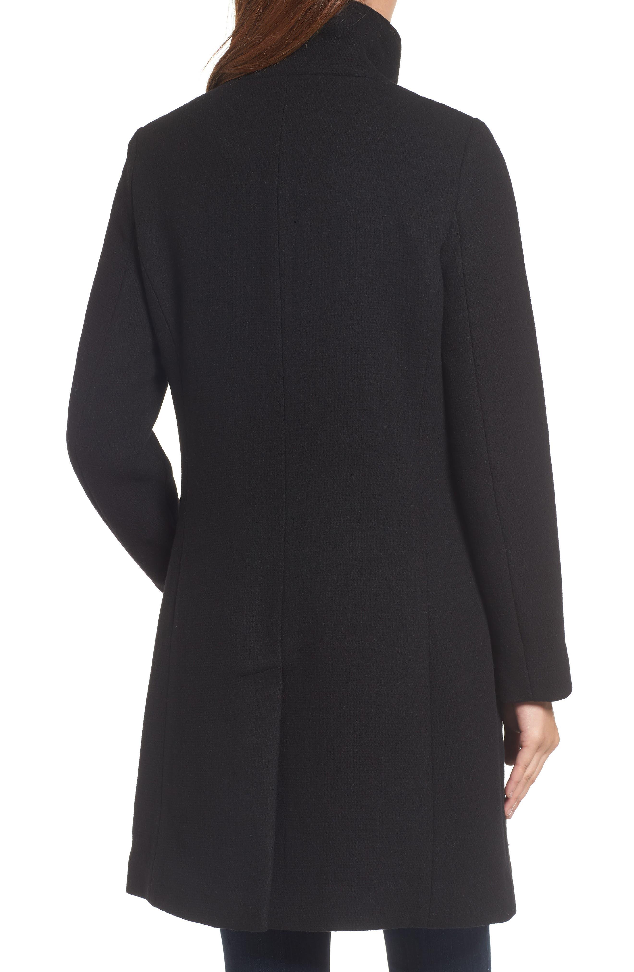 ELLEN TRACY,                             A-Line Coat,                             Alternate thumbnail 2, color,                             001