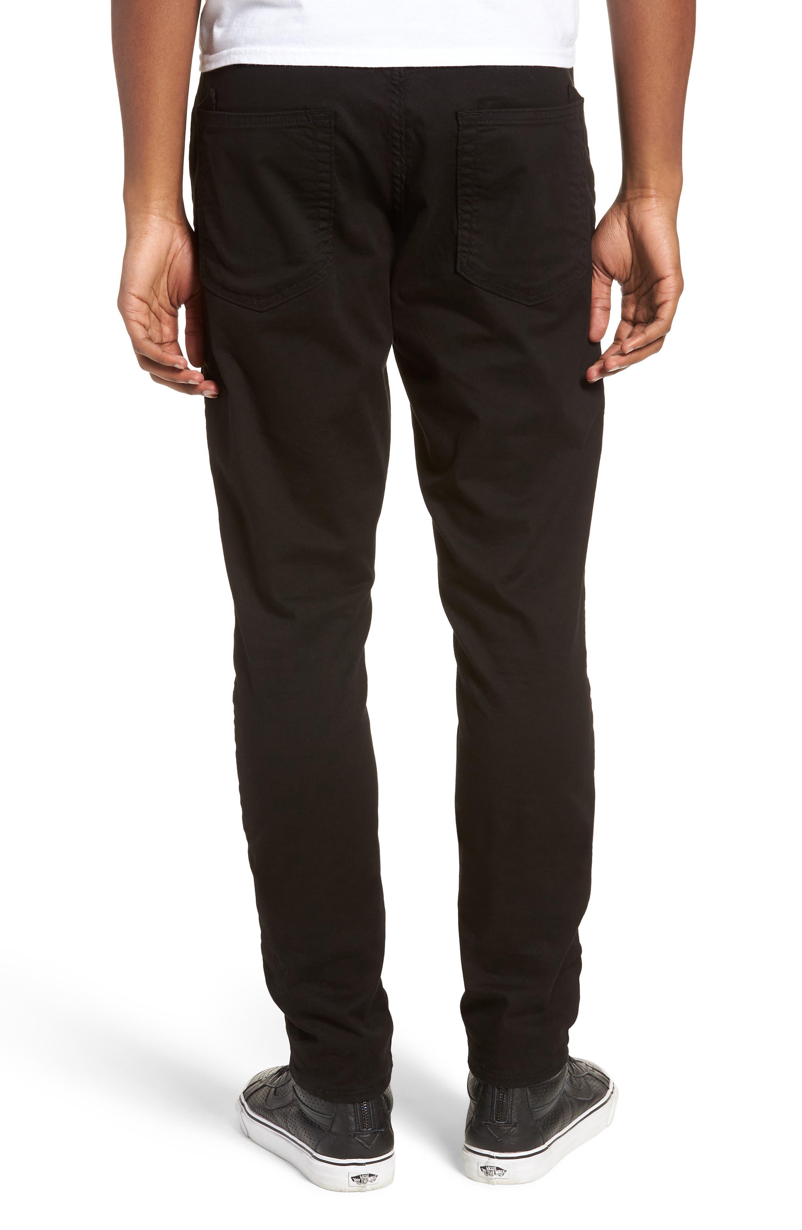 Le Sabre Slim Fit Jeans,                             Alternate thumbnail 2, color,                             BLACK