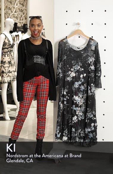 Floral Georgette & Chiffon A-Line Dress, sales video thumbnail