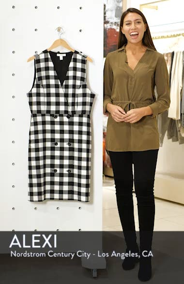 Checkered Pinafore Dress, sales video thumbnail